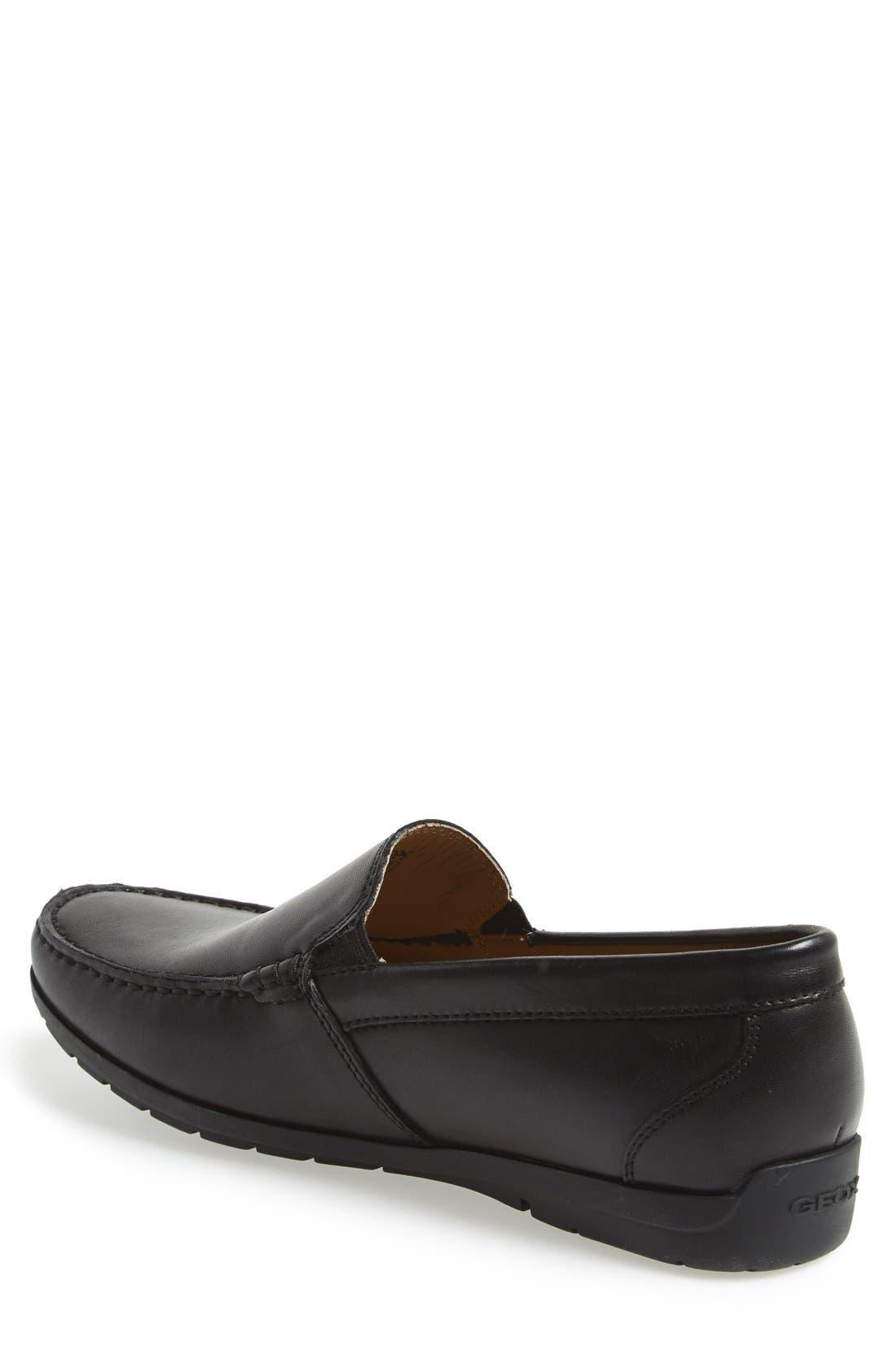 'Simon W2' Venetian Loafer,                             Alternate thumbnail 2, color,                             BLACK
