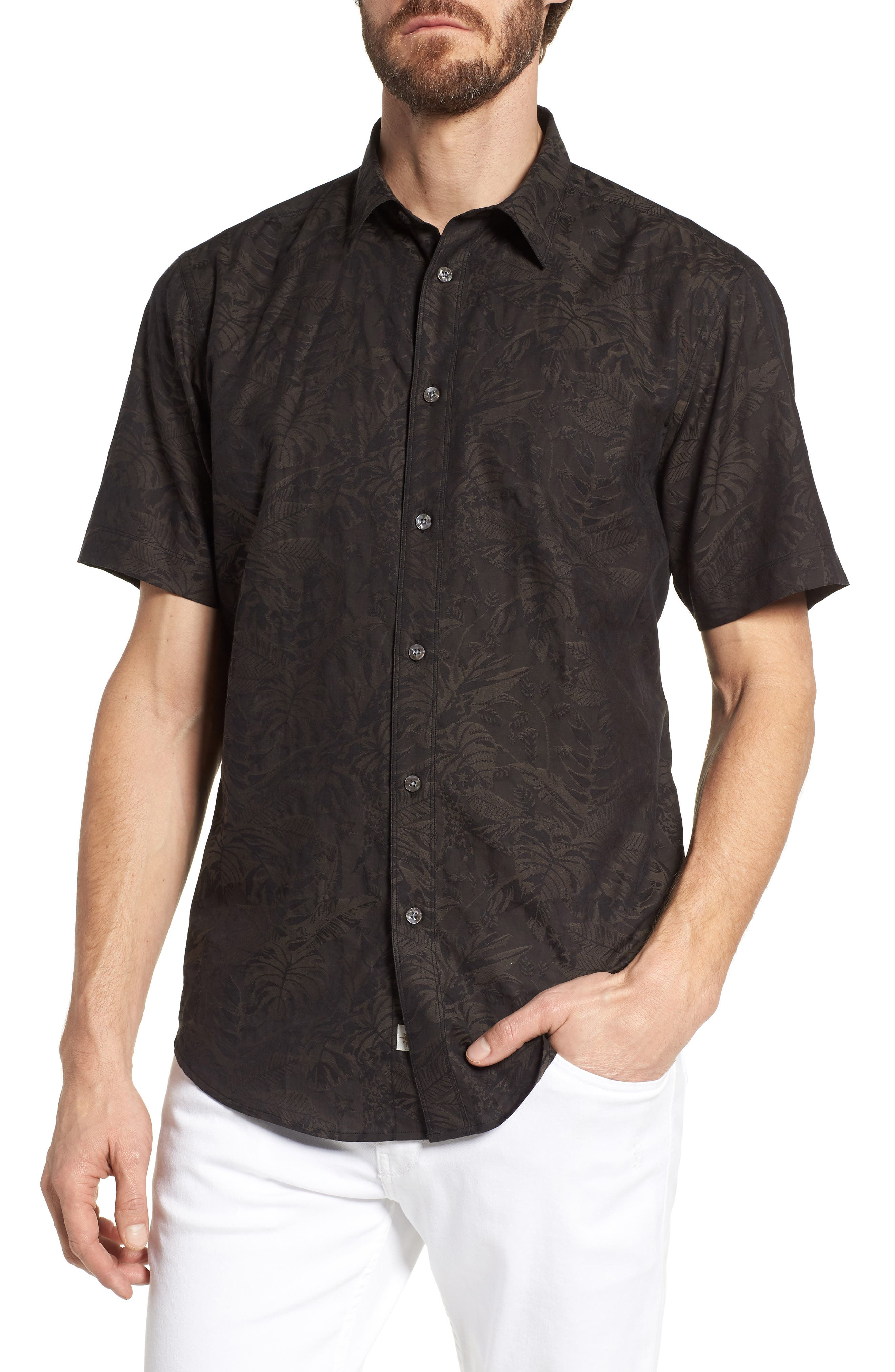 Princeville Regular Fit Print Short Sleeve Sport Shirt,                         Main,                         color, 011