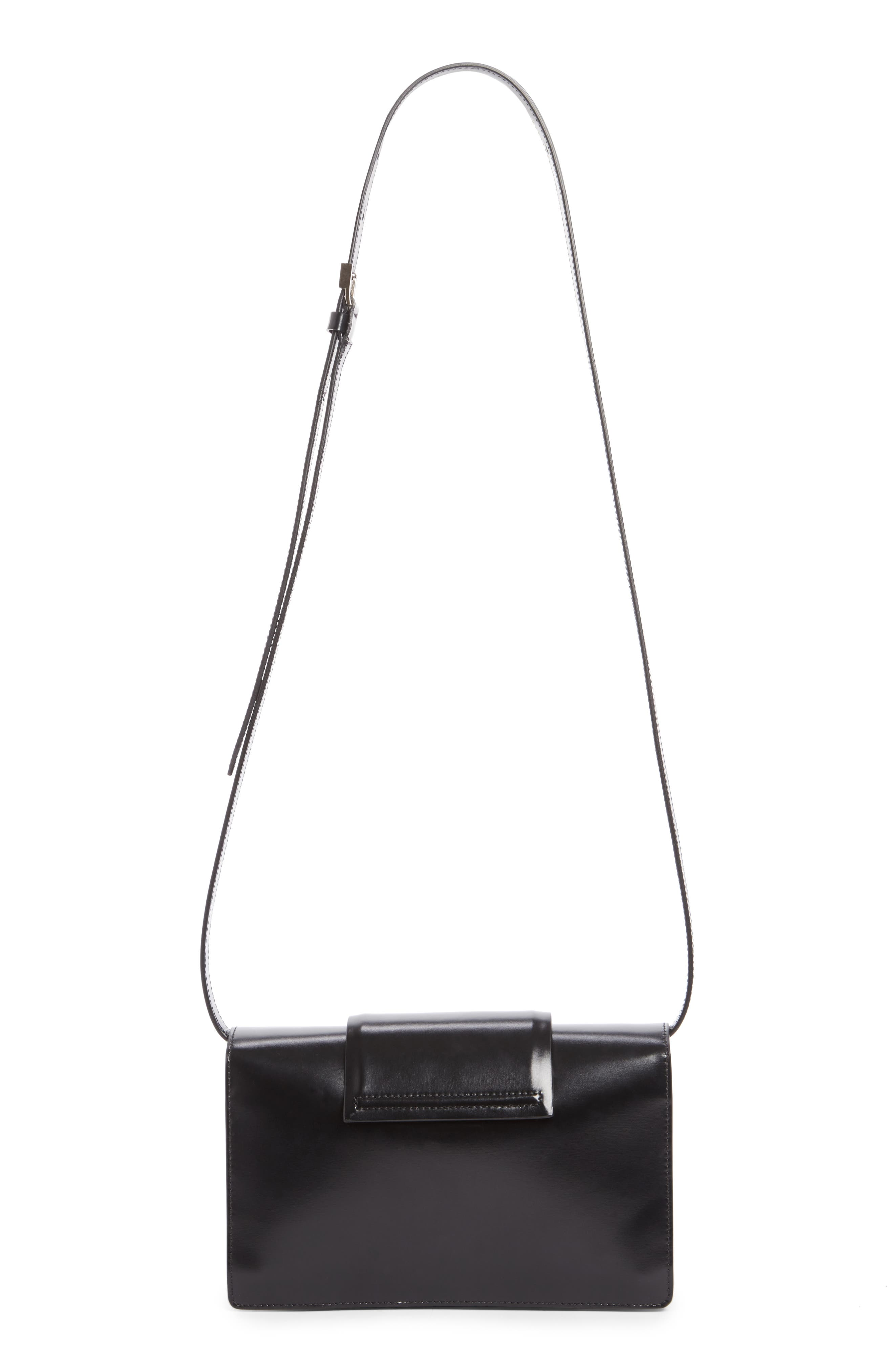 Small Infinity Calfskin Leather Shoulder Bag,                             Alternate thumbnail 5, color,