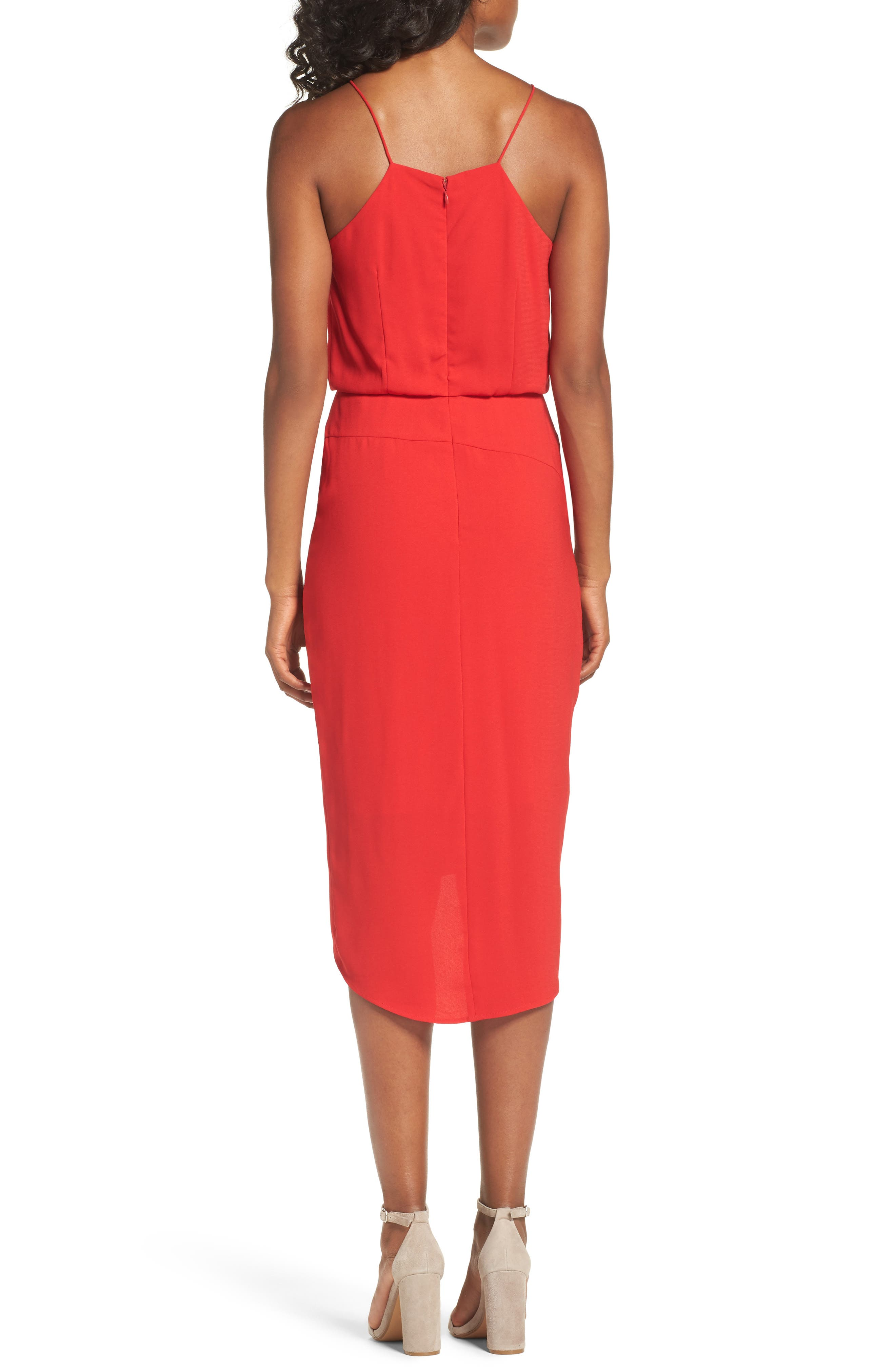 Shari Midi Dress,                             Alternate thumbnail 2, color,                             610