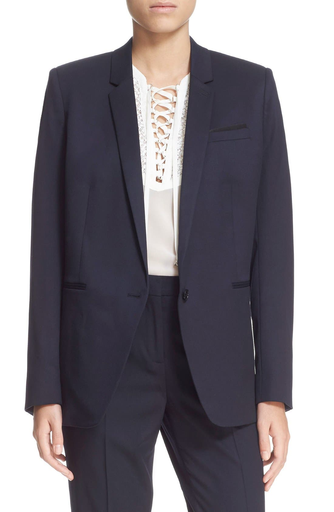 'Timeless' Stretch Wool Jacket,                             Main thumbnail 1, color,                             400