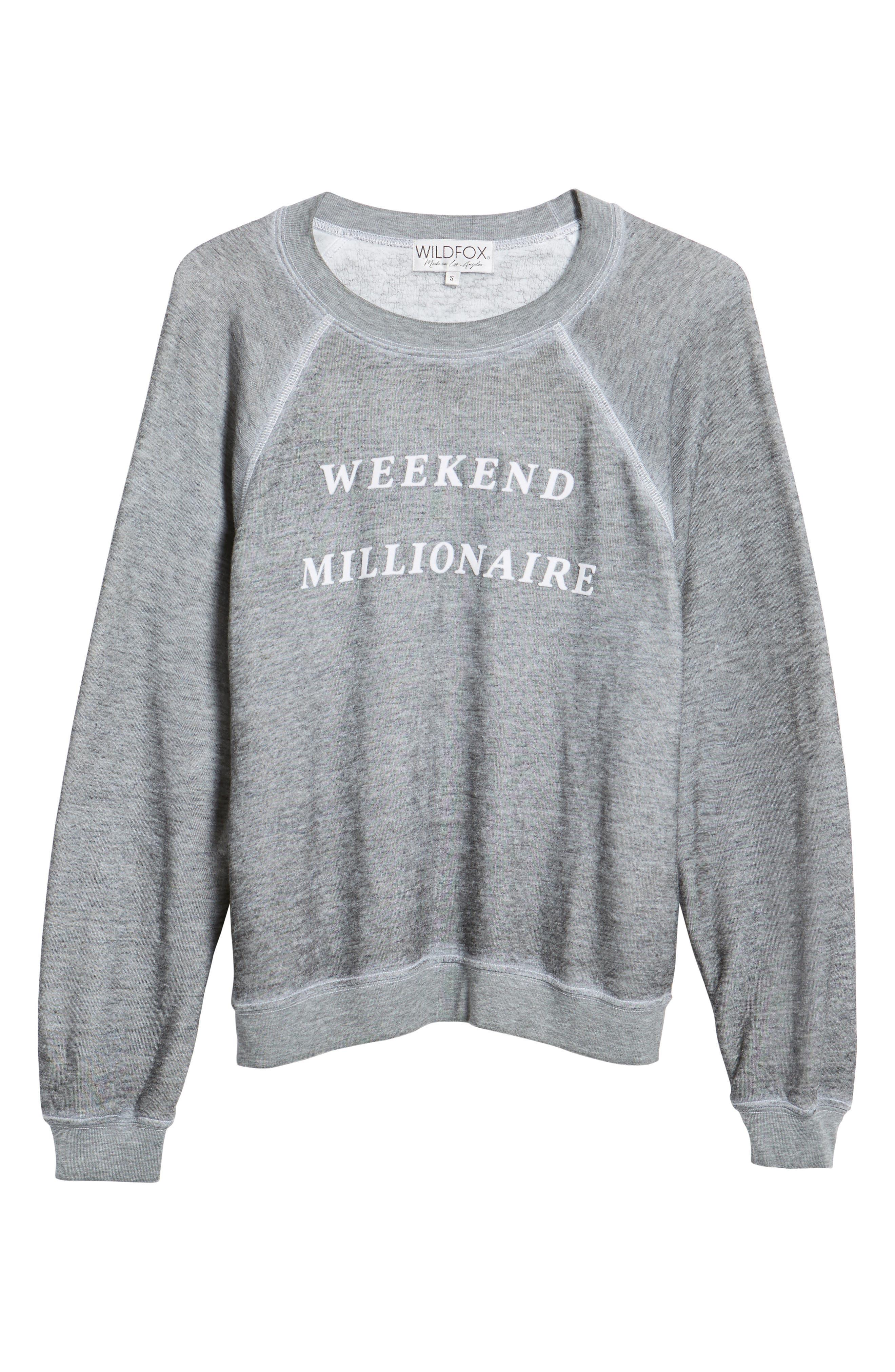 Weekend Millionaire Sweatshirt,                             Alternate thumbnail 6, color,                             020