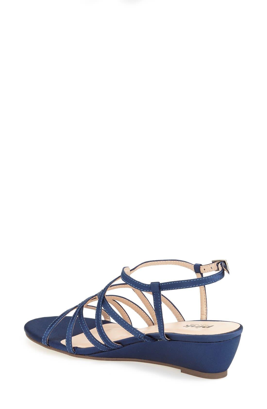 'Opulent' Wedge Sandal,                             Alternate thumbnail 2, color,                             NAVY