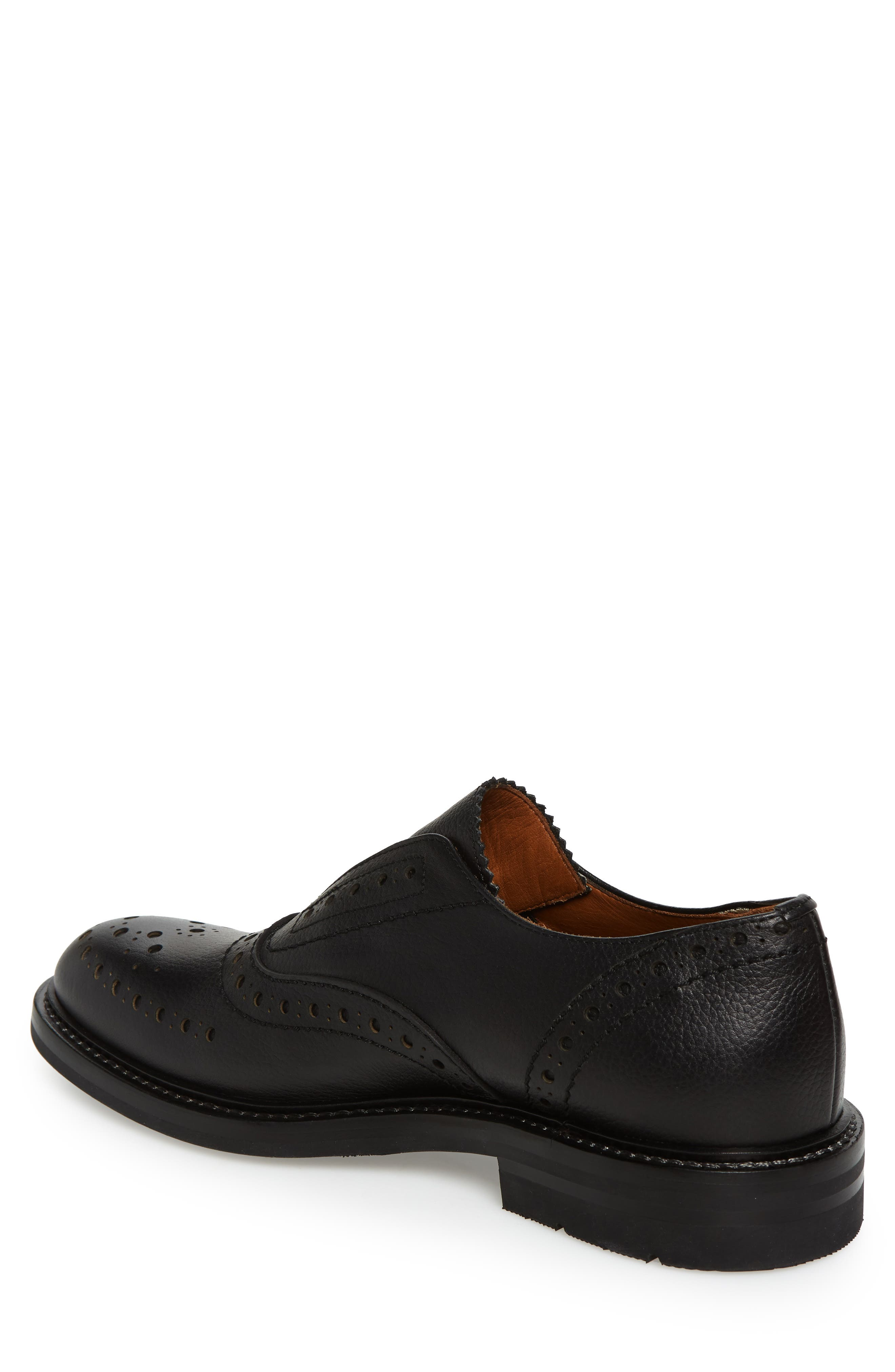 Romeo Weatherproof Laceless Oxford,                             Alternate thumbnail 2, color,                             BLACK LEATHER