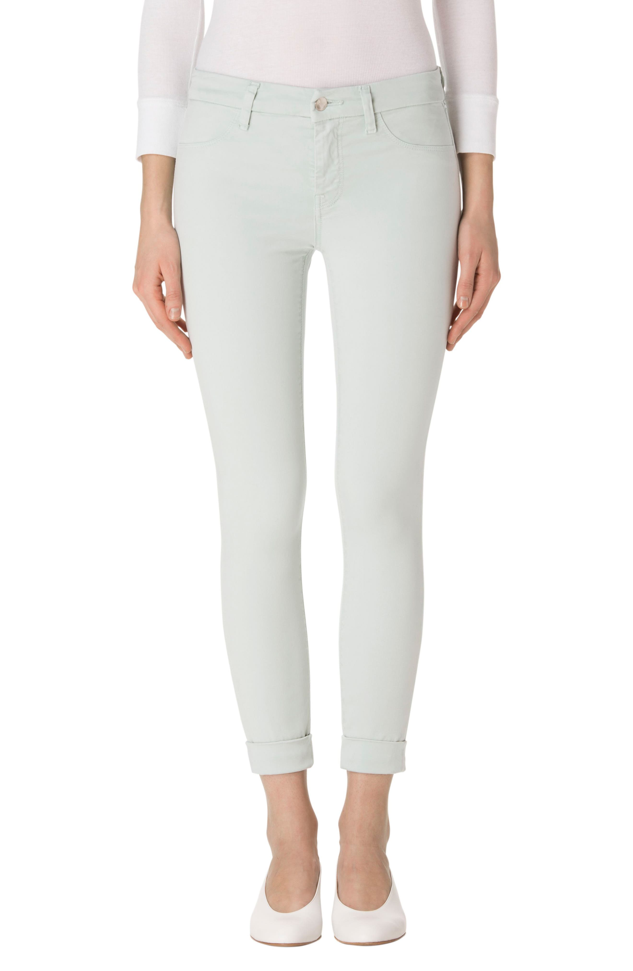 'Anja' Cuffed Crop Skinny Jeans,                             Main thumbnail 3, color,