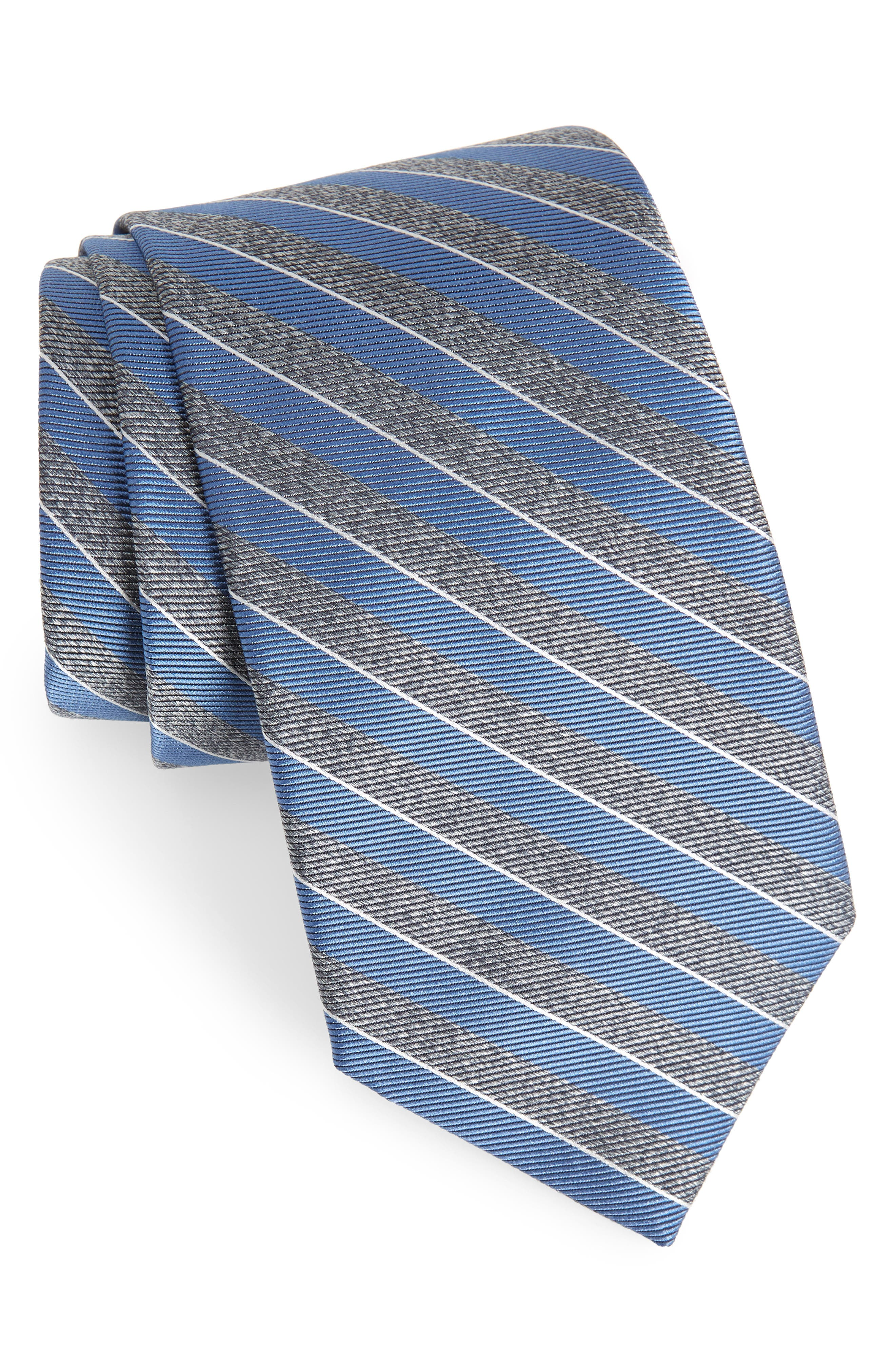 Valley Stripe Silk Tie,                             Main thumbnail 1, color,                             400