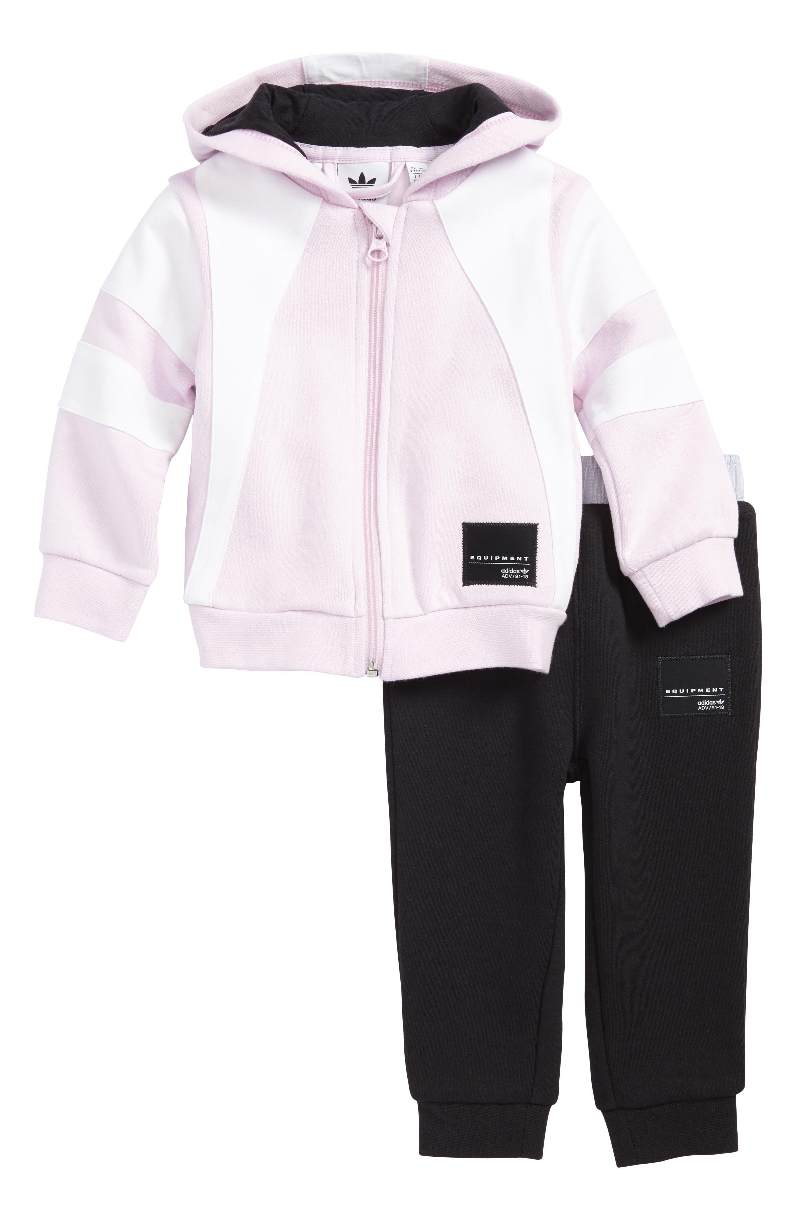 Originals EQT Fleece Hoodie & Pants Set, Main, color, 682