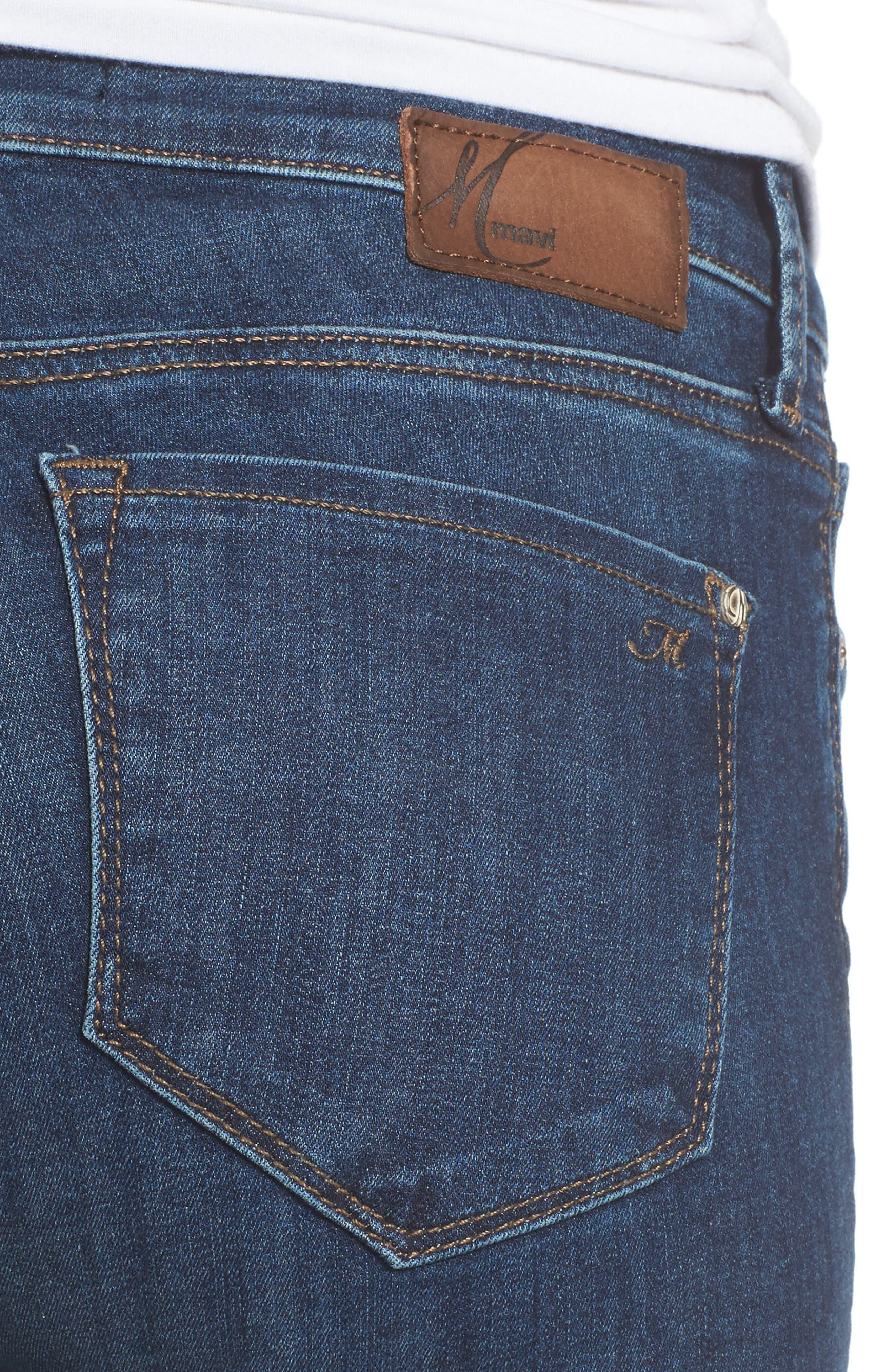 Adriana Stretch Skinny Jeans,                             Alternate thumbnail 4, color,                             401