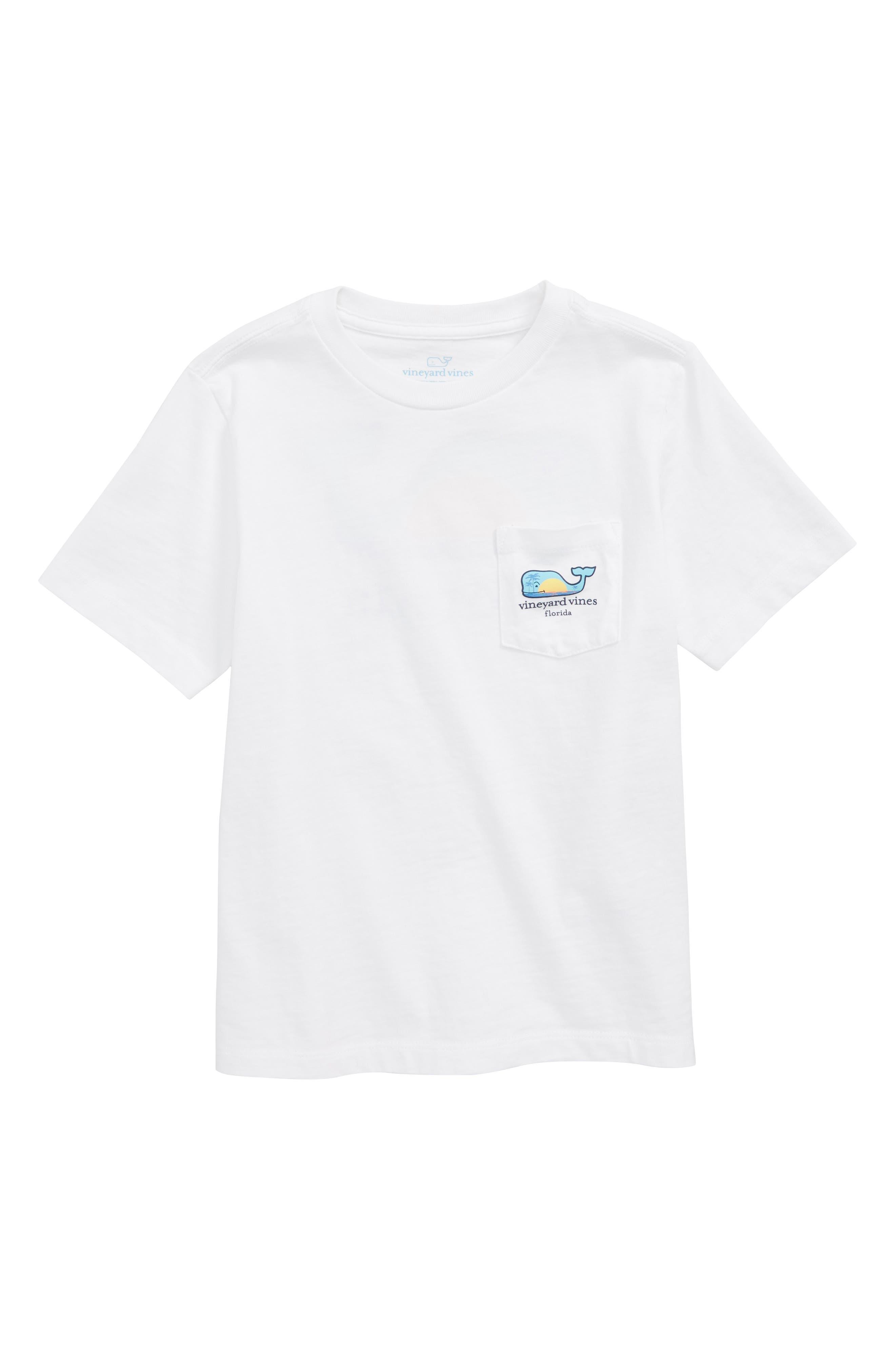 Florida Whale Pocket T-Shirt,                             Main thumbnail 1, color,                             WHITE CAP
