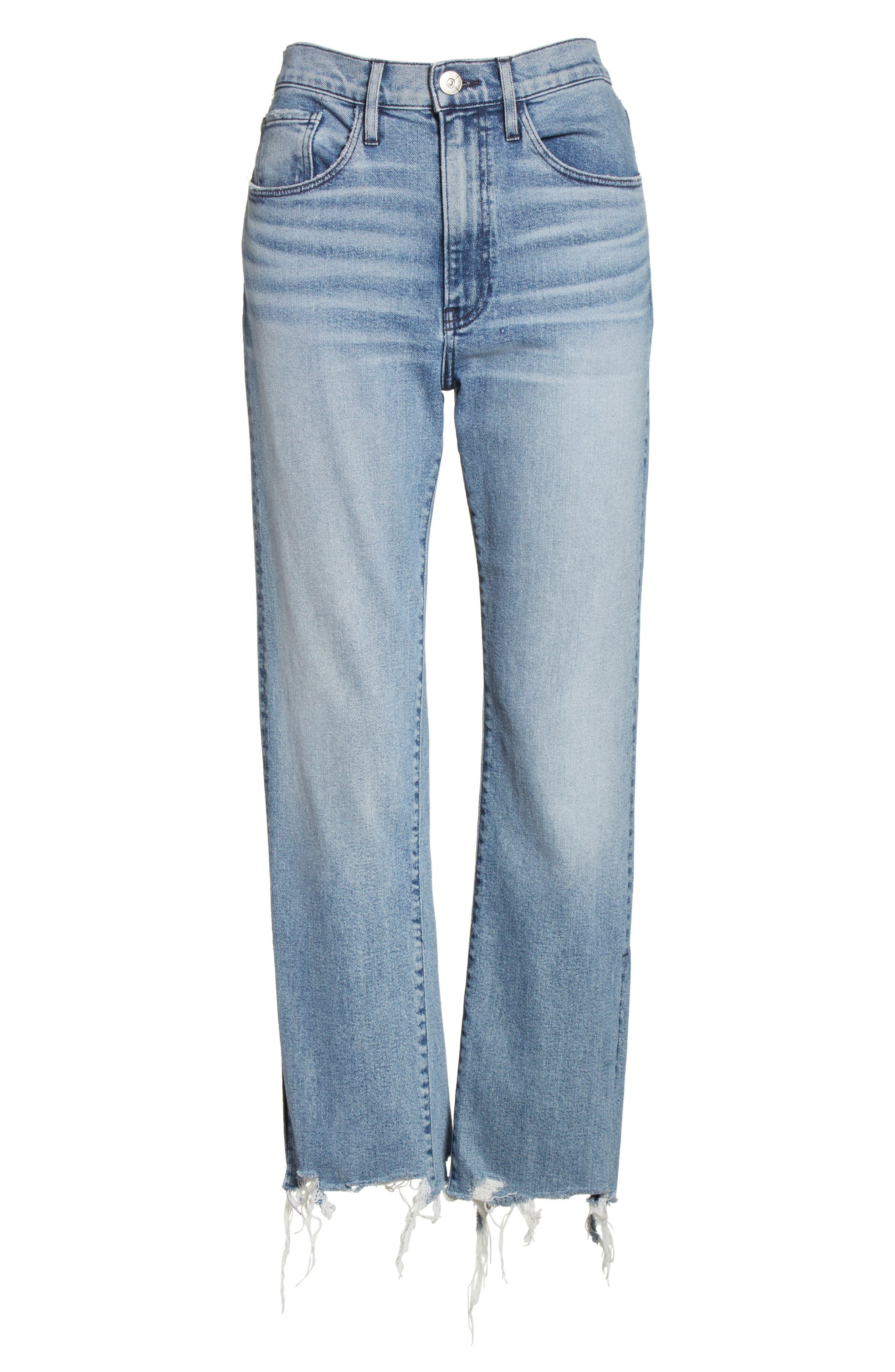 W3 Higher Ground Side Split Ankle Straight Leg Jeans,                             Alternate thumbnail 6, color,                             428