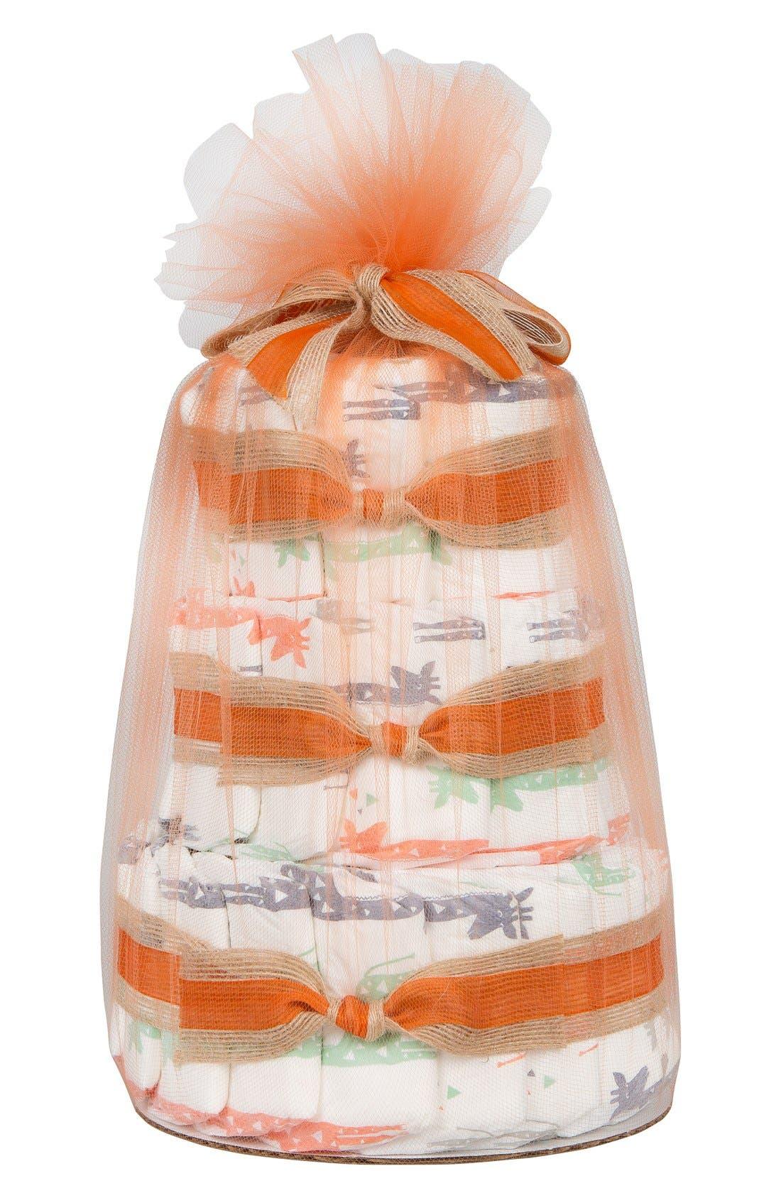 Mini Diaper Cake & Travel-Size Essentials Set,                             Main thumbnail 1, color,