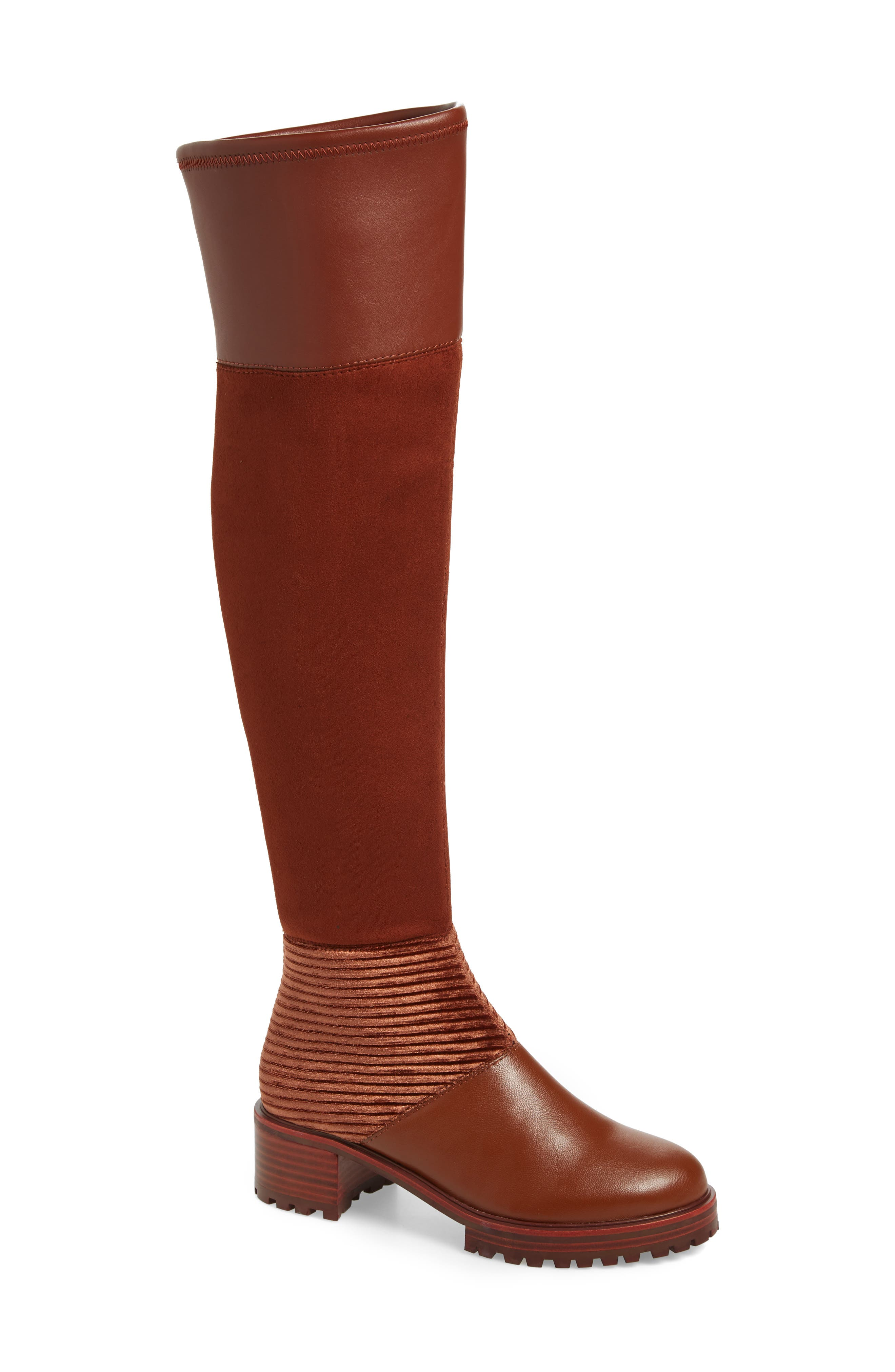 M4D3 Nakina Over The Knee Boot- Brown