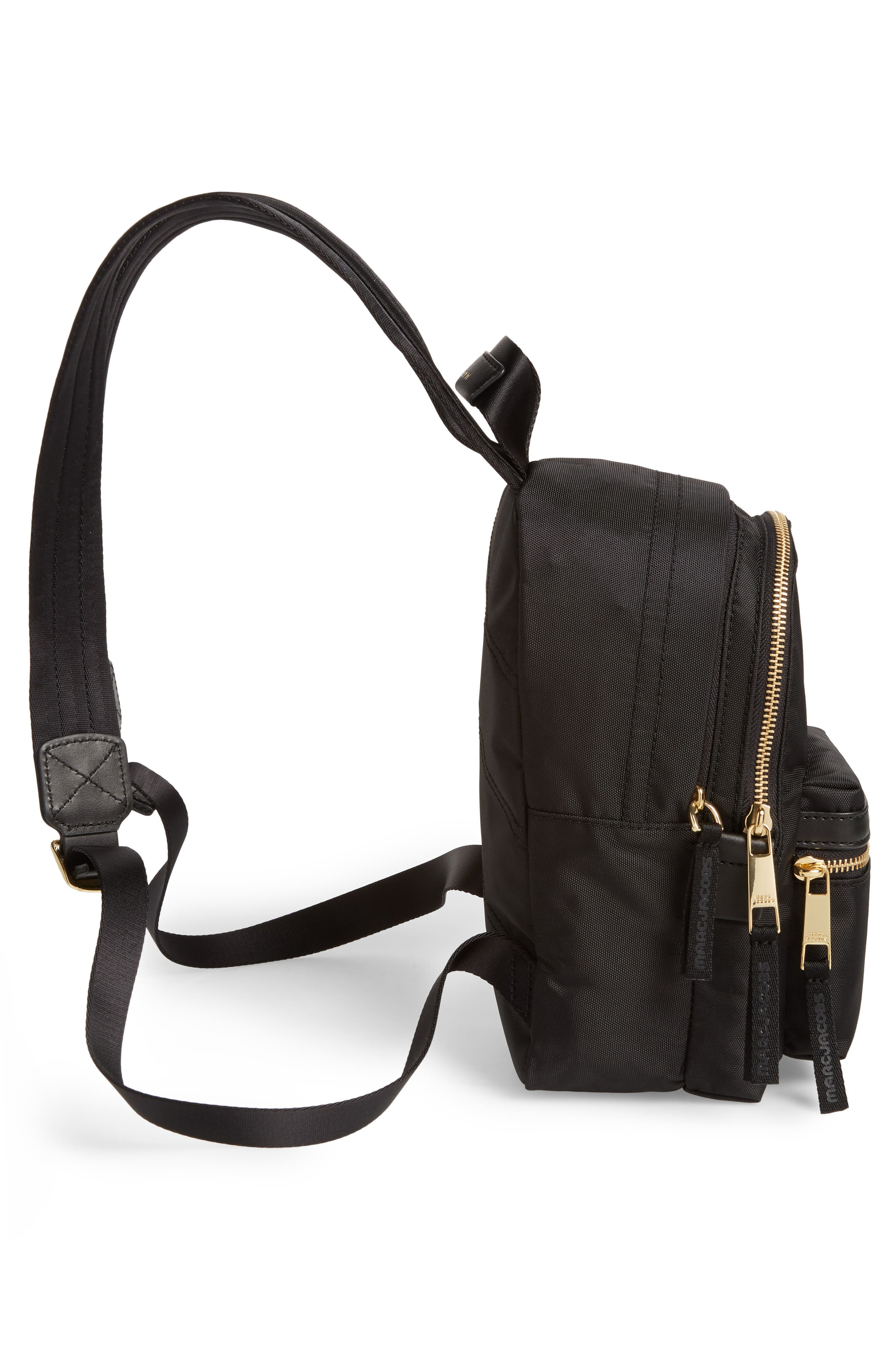 Mini Trek Nylon Backpack,                             Alternate thumbnail 5, color,                             001