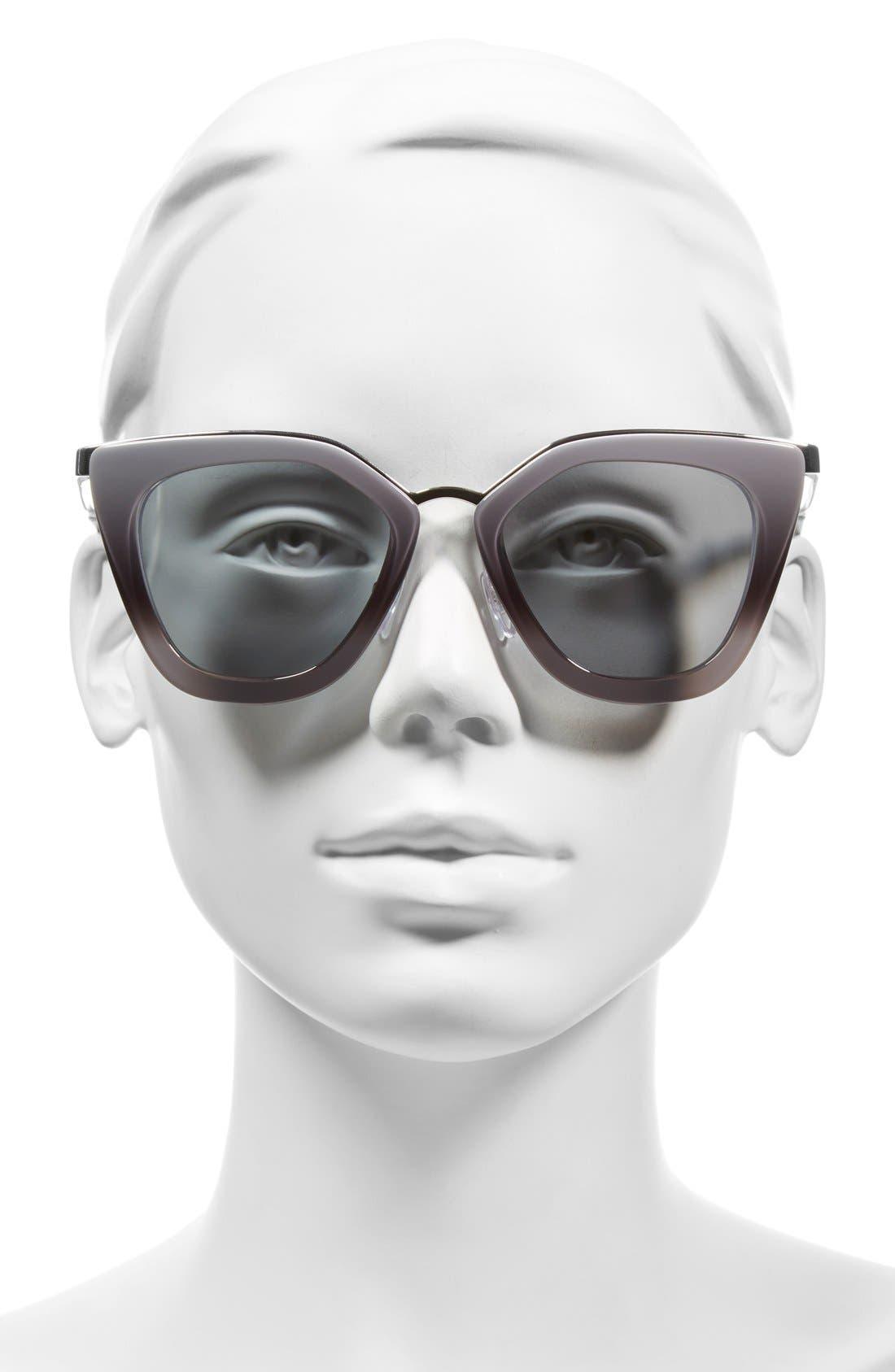 52mm Cat Eye Sunglasses,                             Alternate thumbnail 7, color,