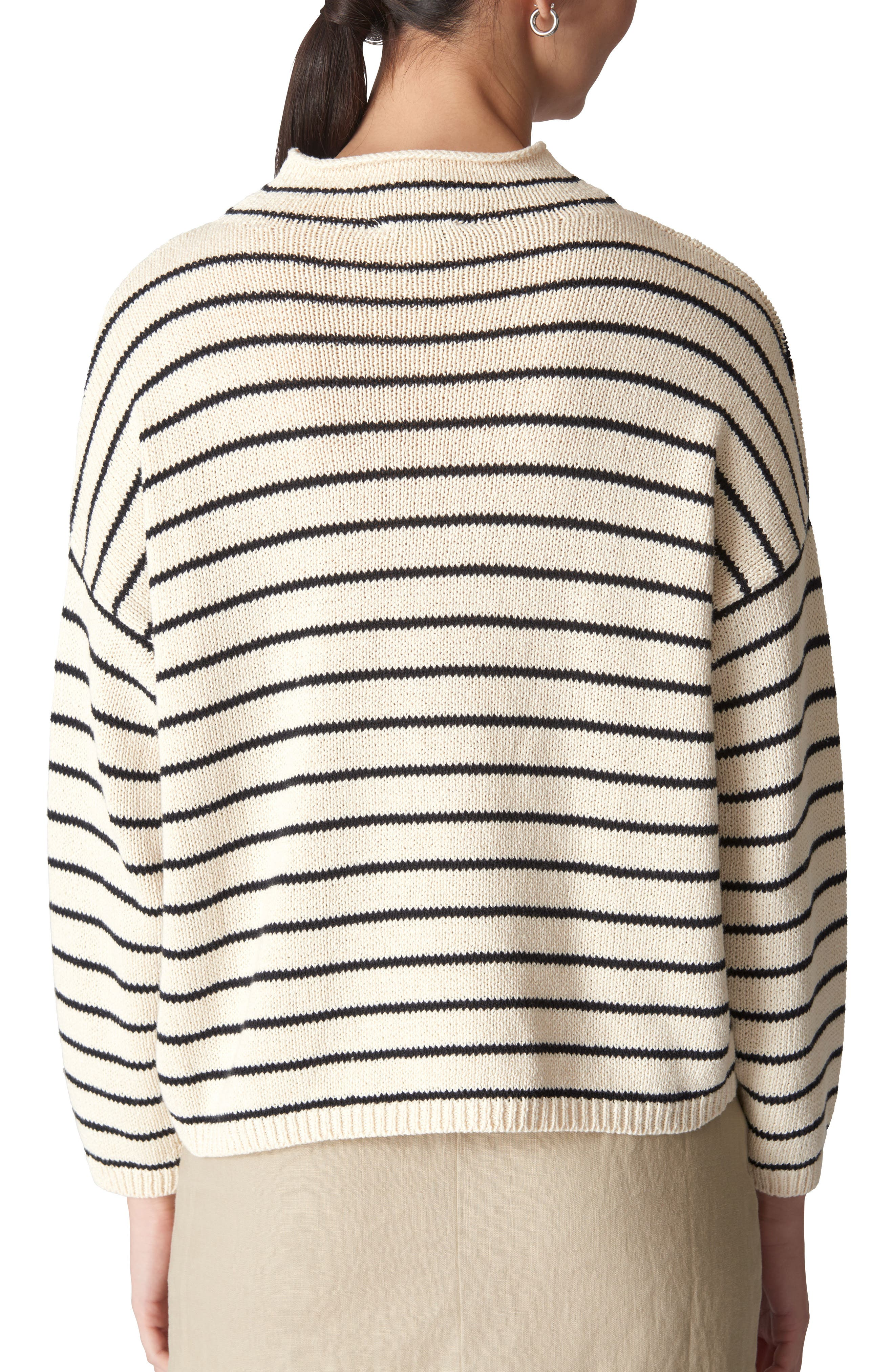 Fine Stripe Relaxed Sweater,                             Alternate thumbnail 2, color,