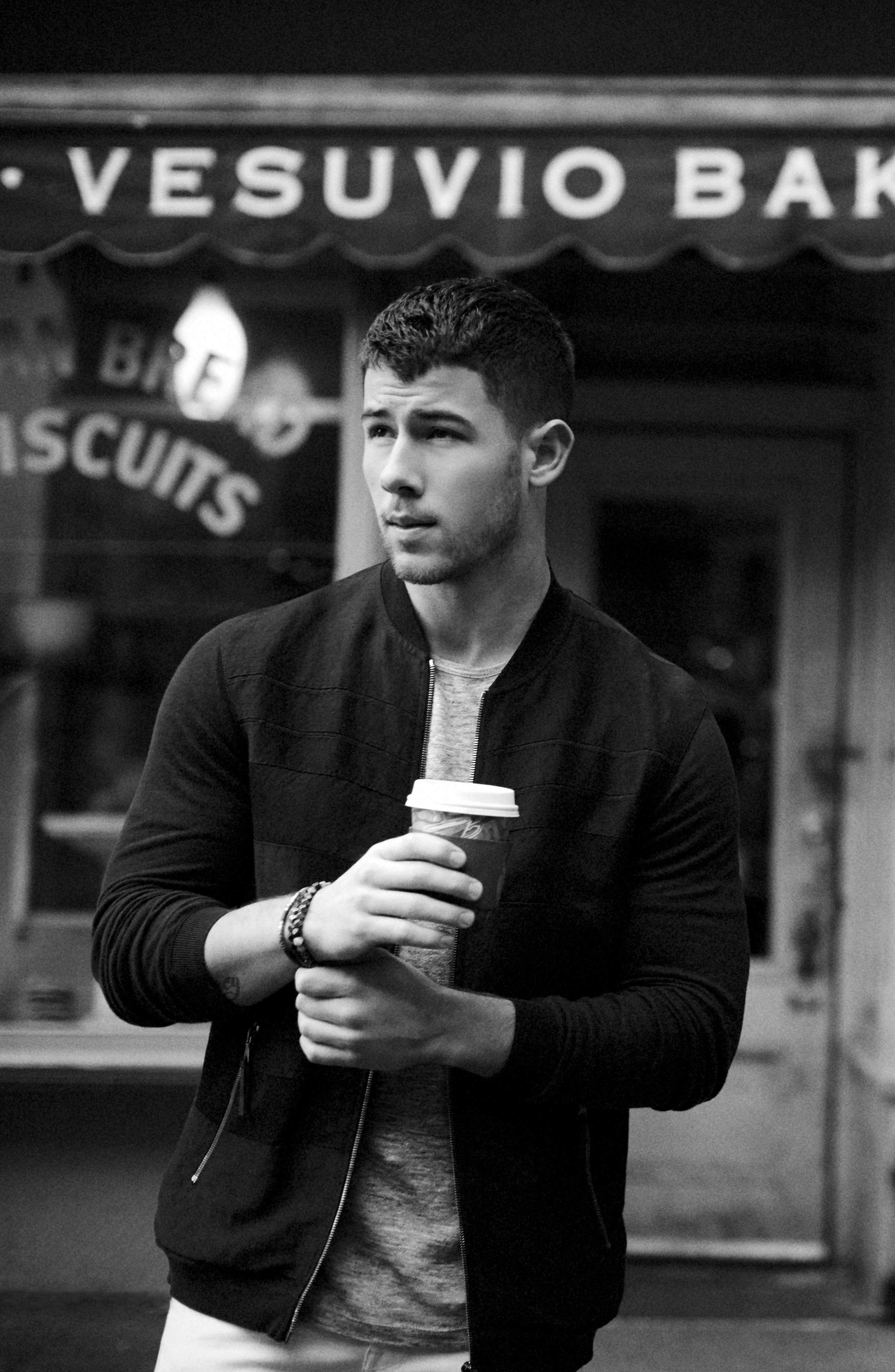 John Varvatos x Nick Jonas Zip Front Jacket,                             Alternate thumbnail 7, color,                             001