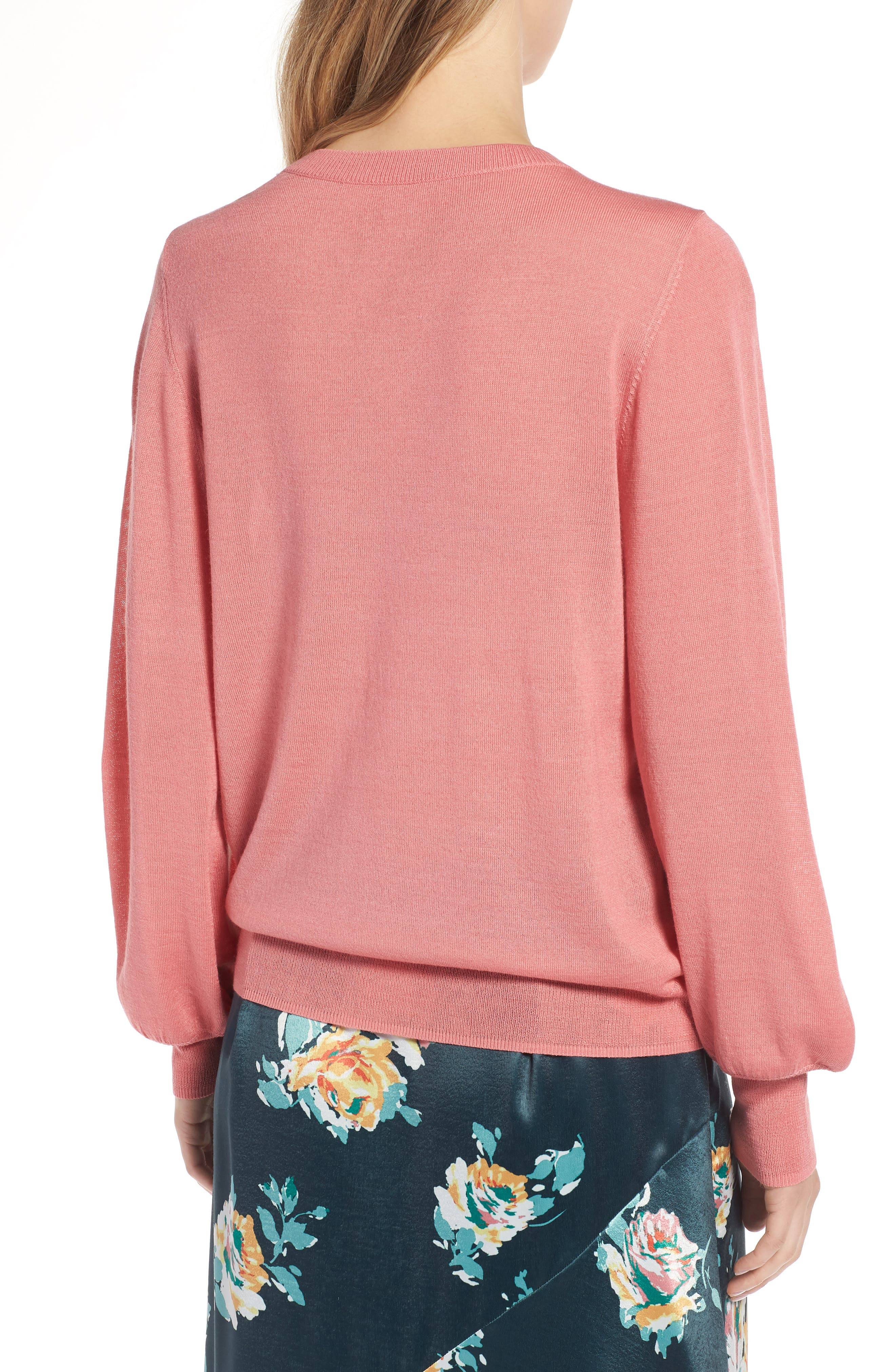 Puff Sleeve Sweater,                             Alternate thumbnail 11, color,
