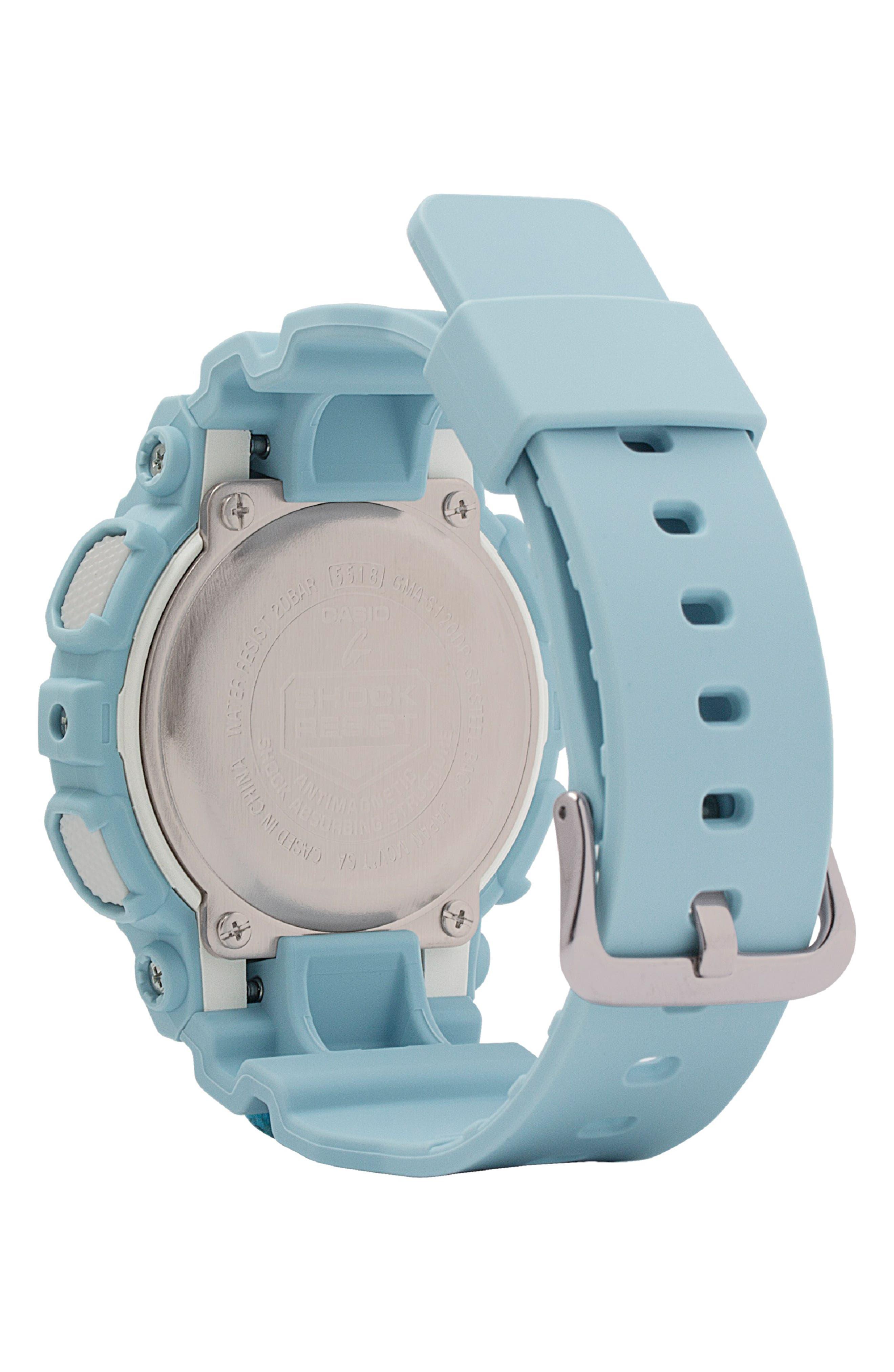 G-Shock S-Series Ana-Digi Resin Watch, 46mm,                             Alternate thumbnail 2, color,                             BLUE