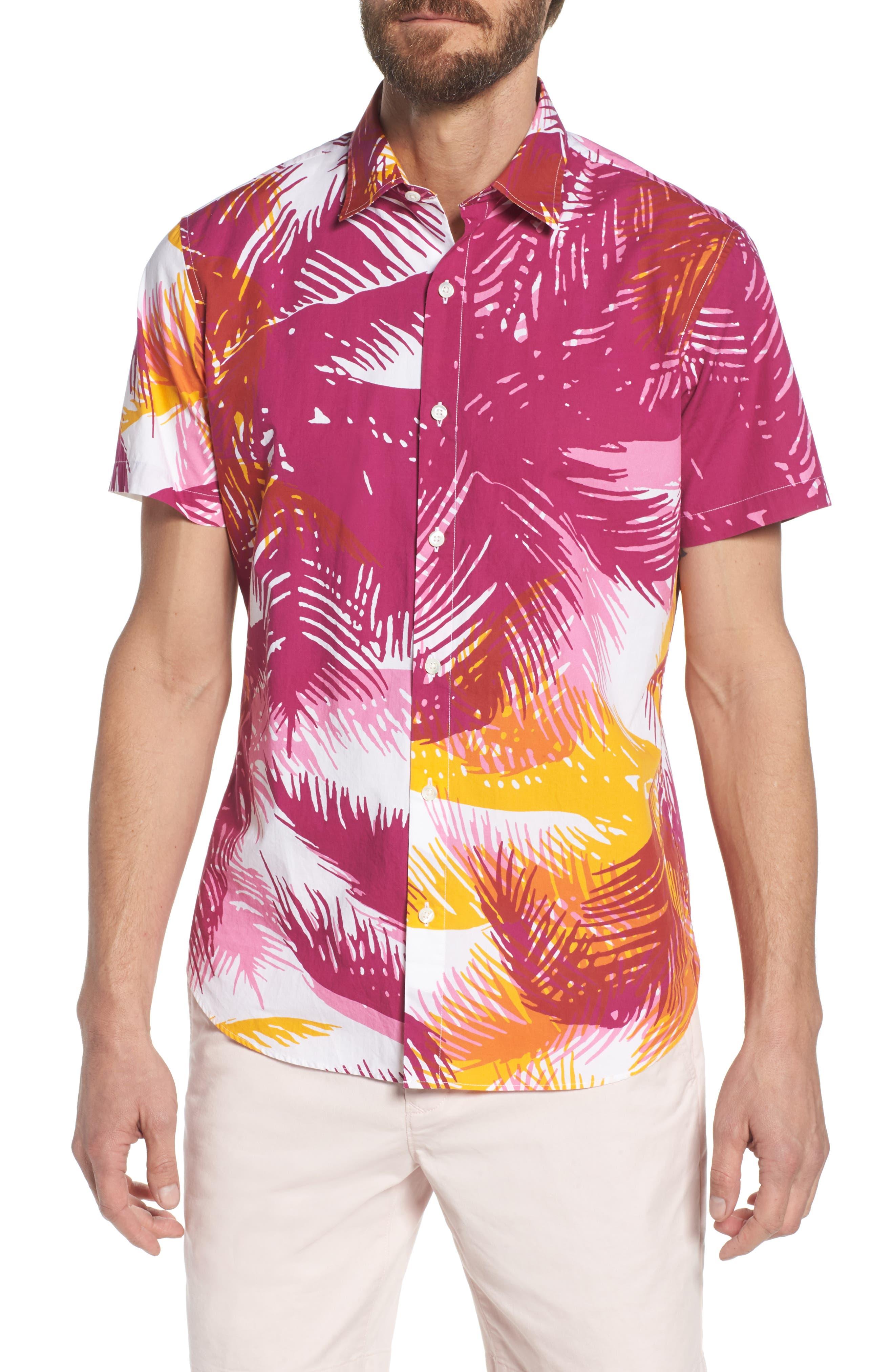 Premium Slim Fit Print Sport Shirt,                         Main,                         color,