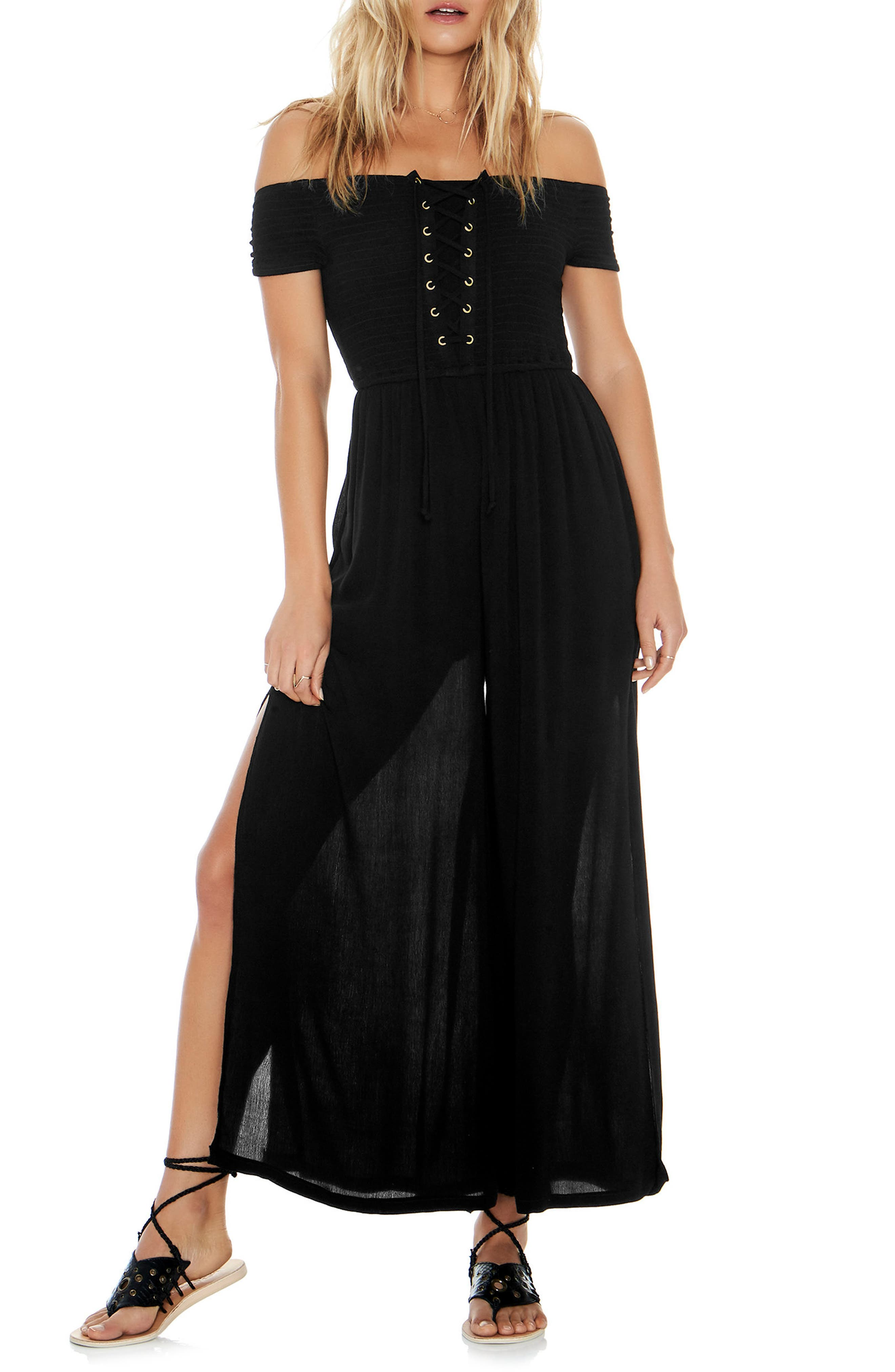 Sao Paulo Cover-Up Jumpsuit,                             Main thumbnail 1, color,                             001