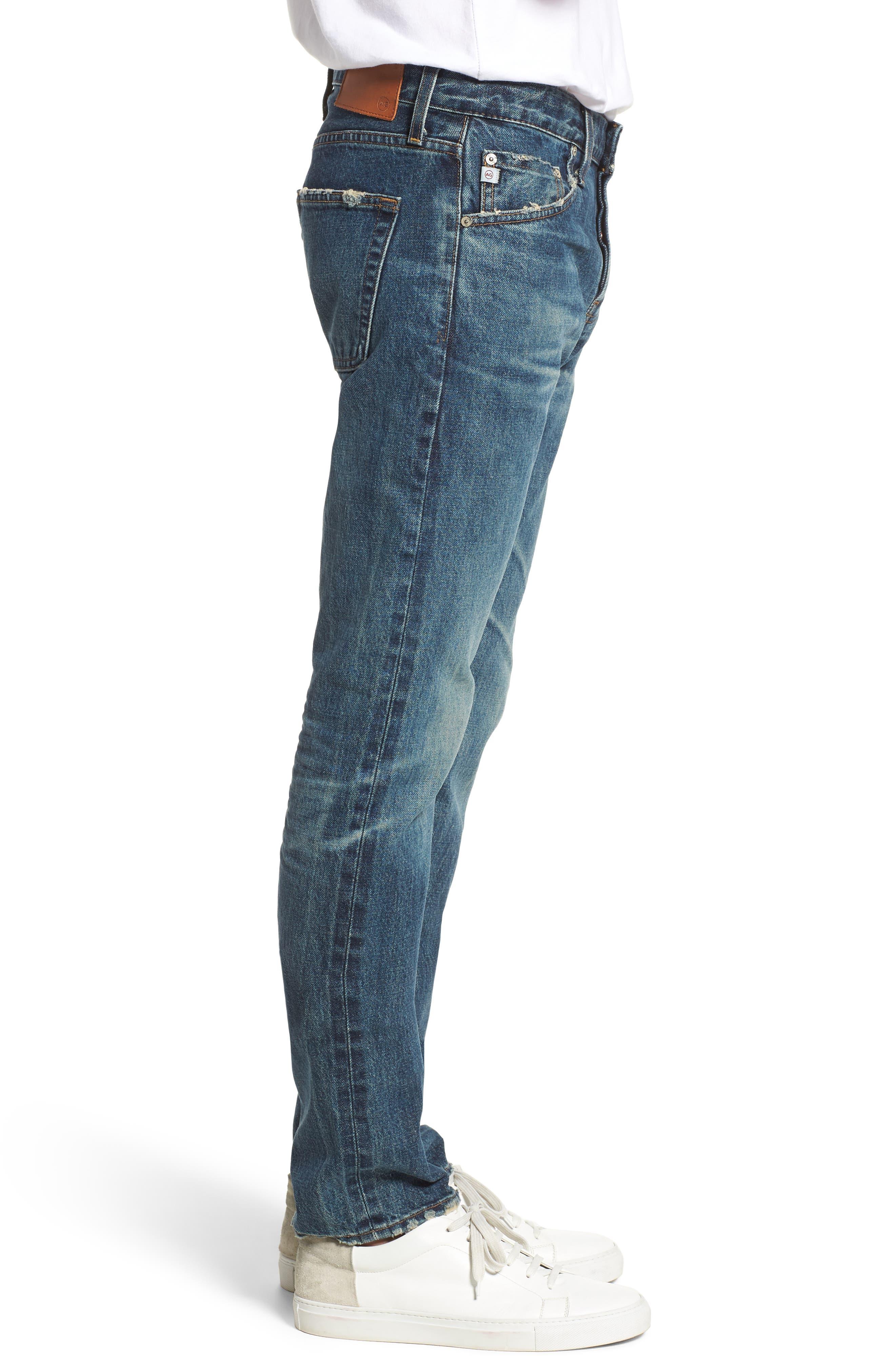 Tellis Slim Fit Jeans,                             Alternate thumbnail 3, color,                             417