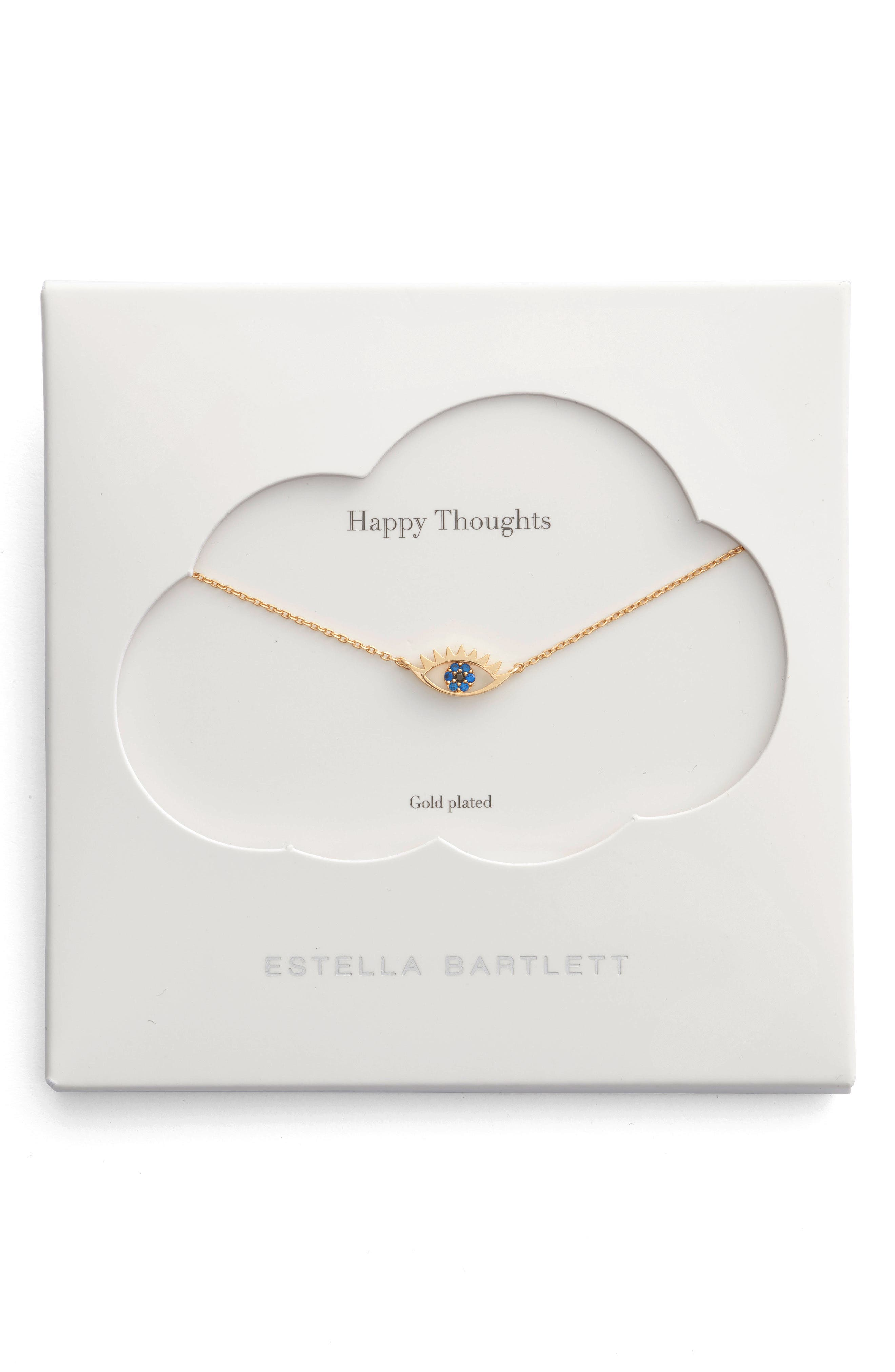 Happy Thoughts Eye Pendant Necklace,                             Main thumbnail 1, color,                             GOLD