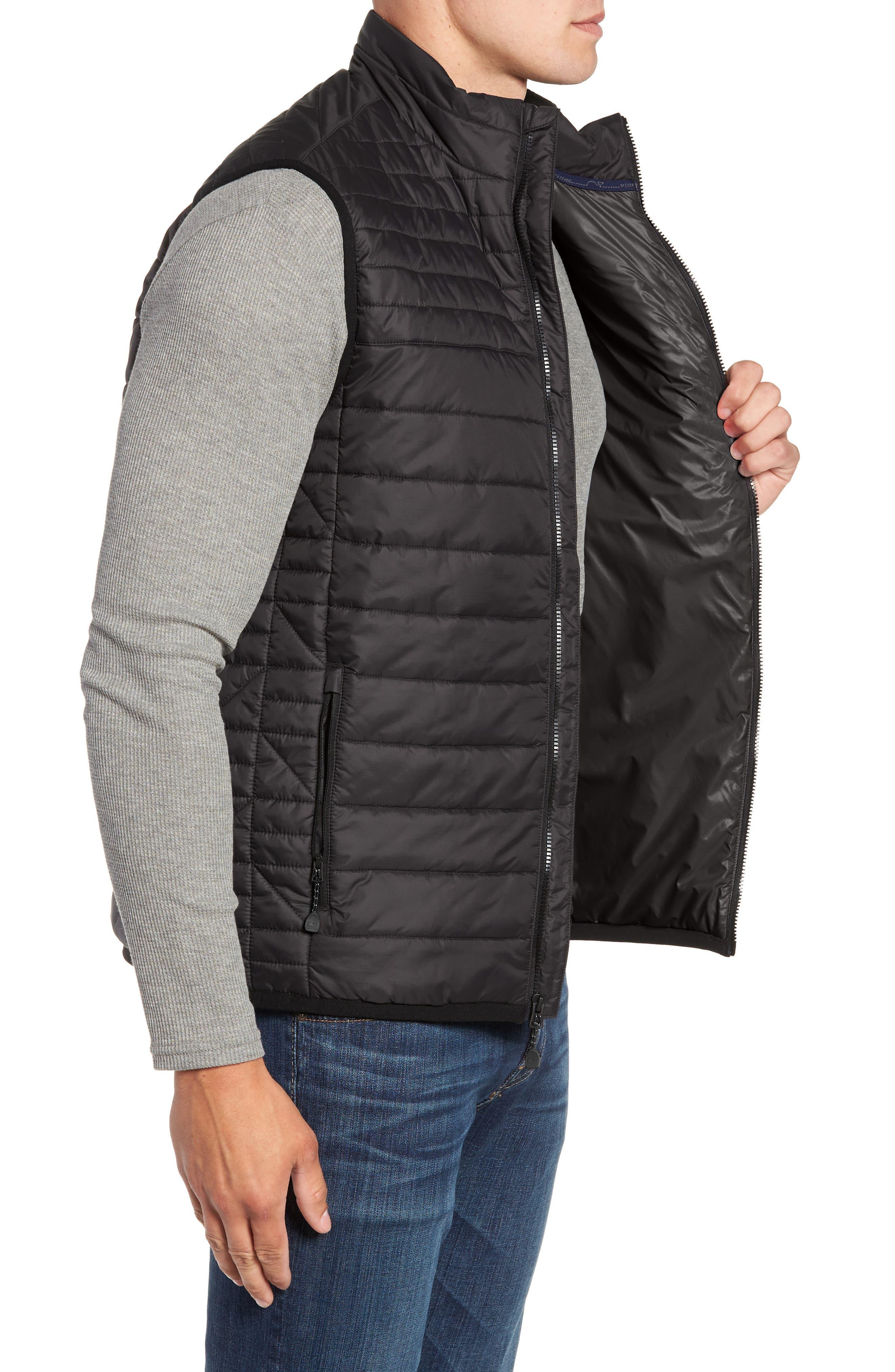 VINEYARD VINES,                             Regular Fit Down Mountain Vest,                             Alternate thumbnail 3, color,                             002