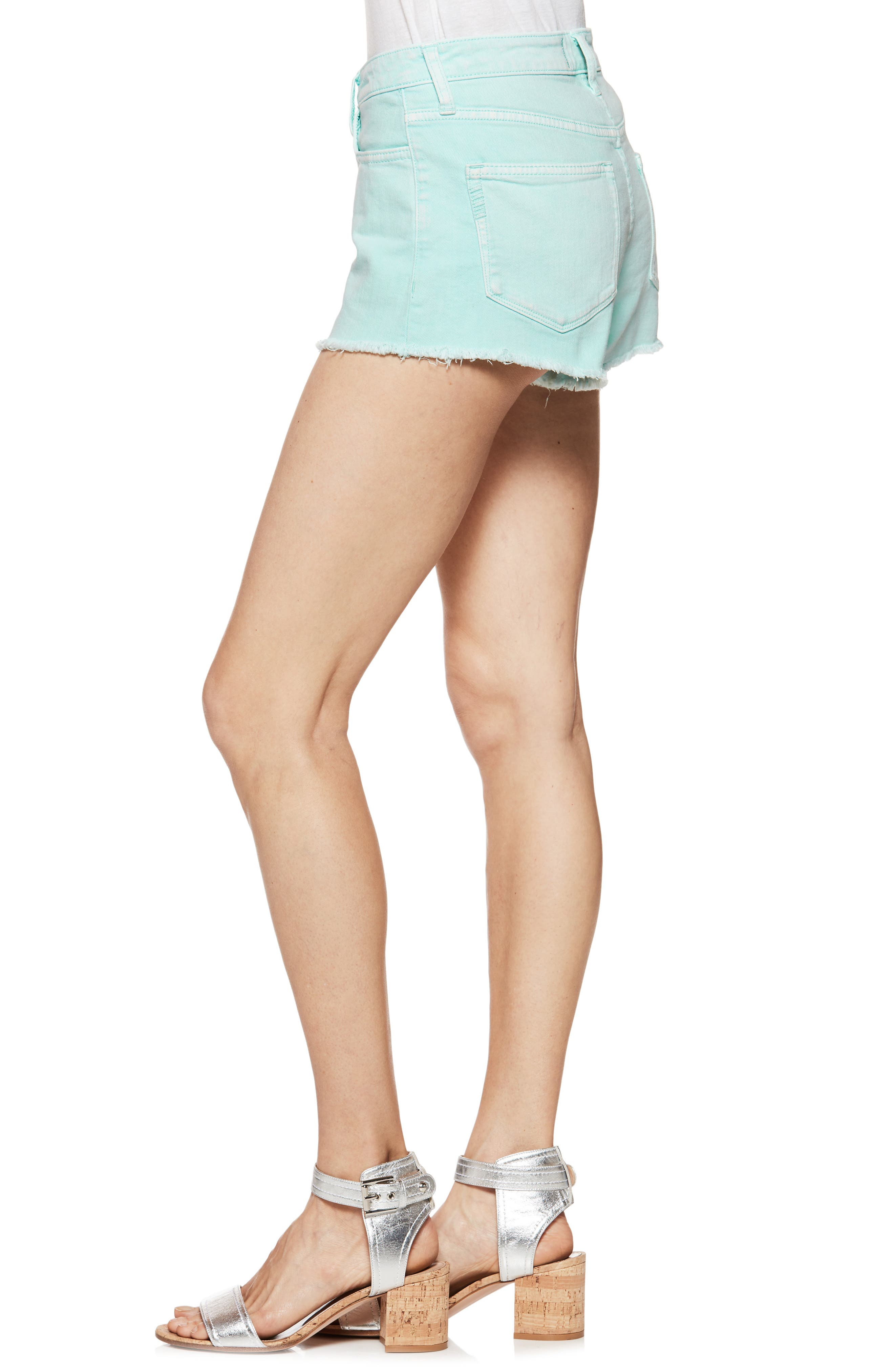 Emmit Relaxed Denim Shorts,                             Alternate thumbnail 3, color,                             430