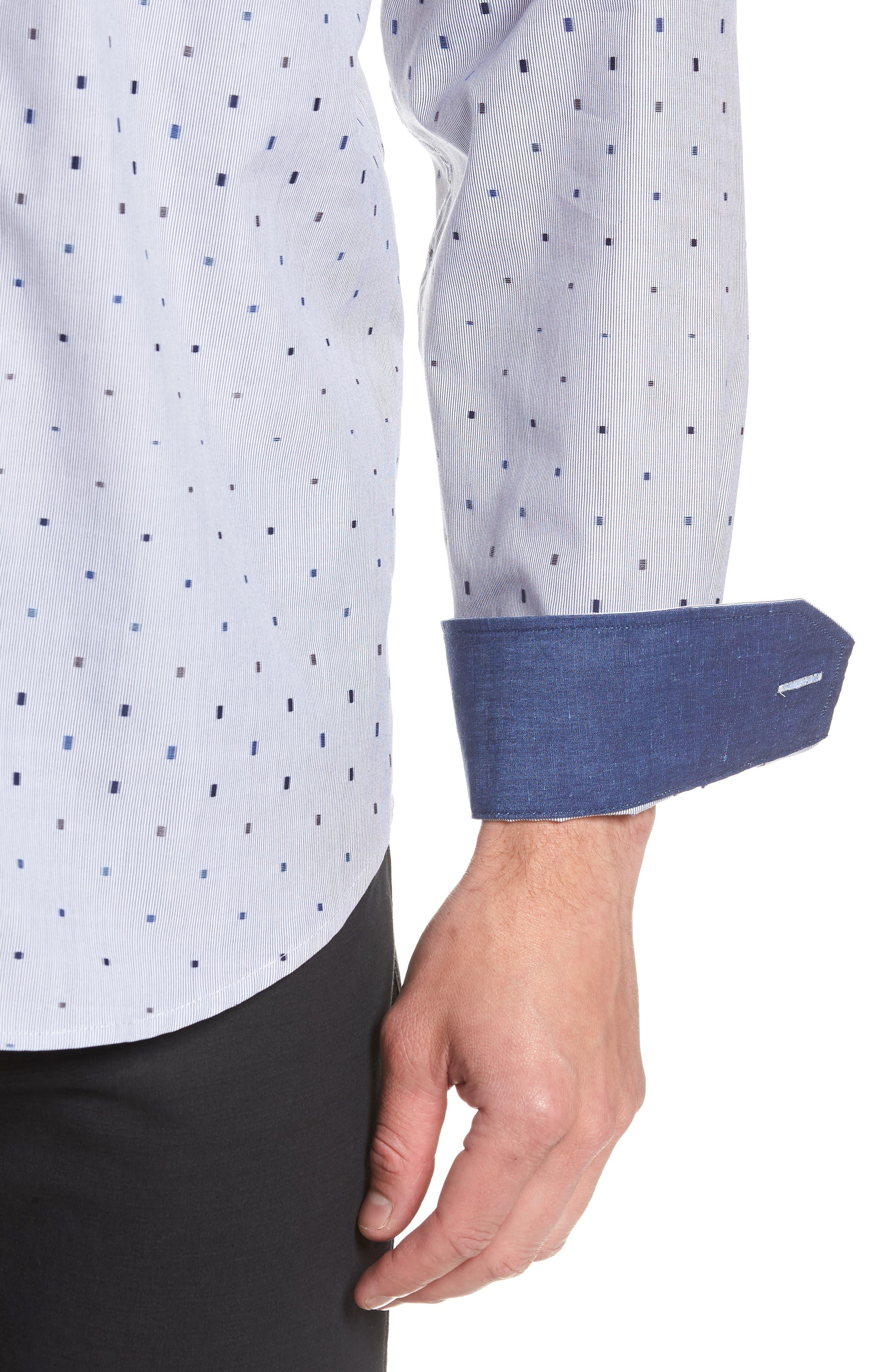 Classic Fit Print Sport Shirt,                             Alternate thumbnail 2, color,                             411