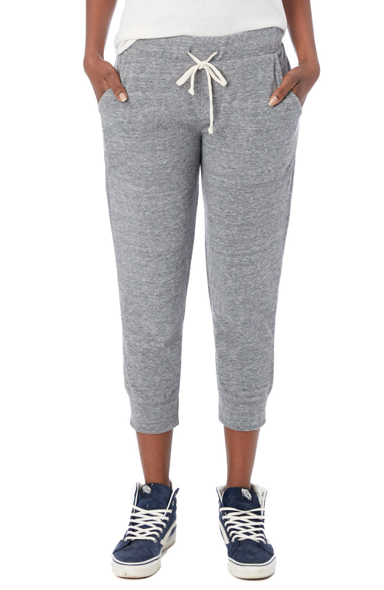 Eco Crop Jogger Lounge Pants,                         Main,                         color, ECO GREY