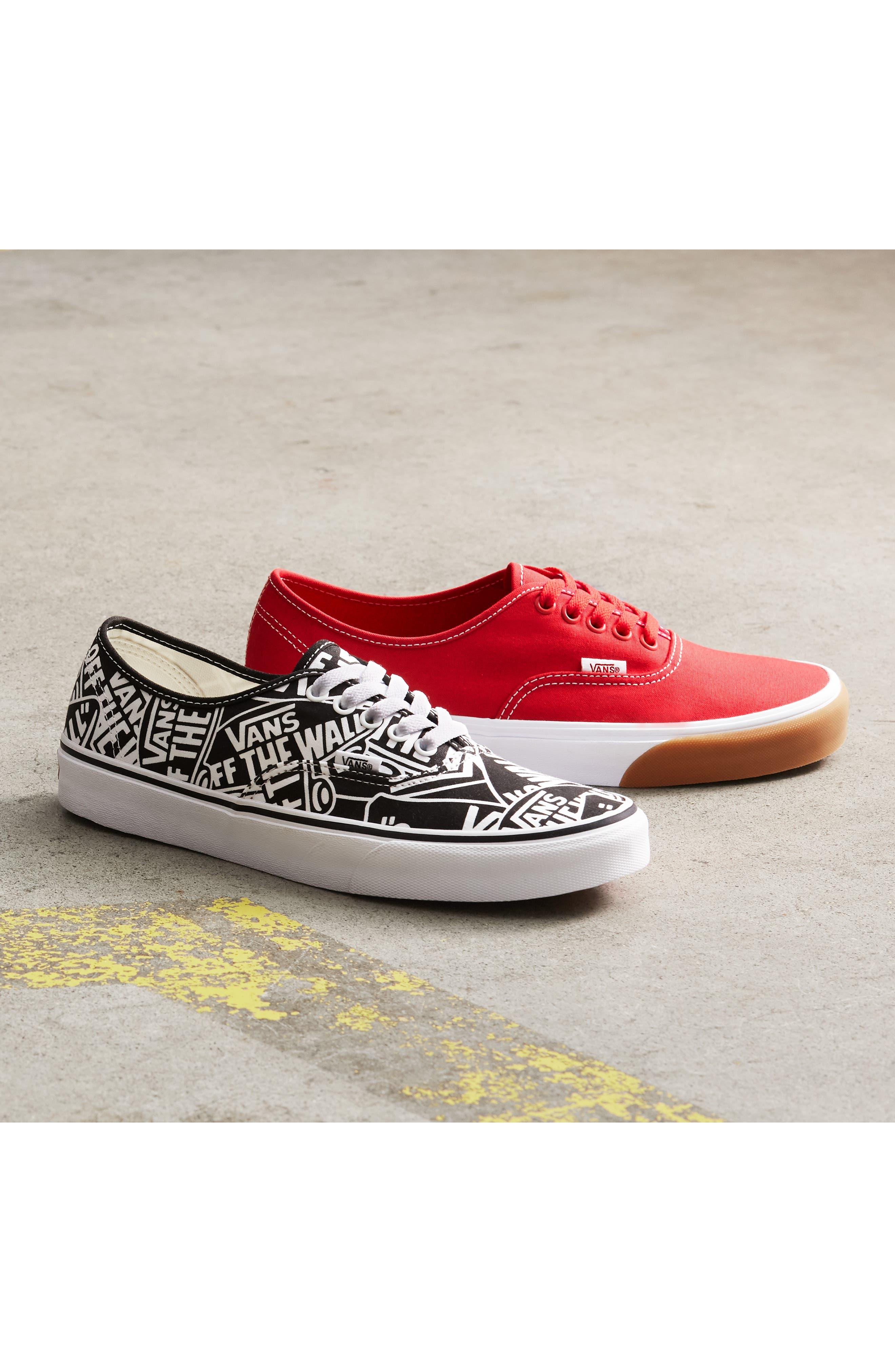 Authentic Sneaker,                             Alternate thumbnail 8, color,                             BLACK/ WHITE