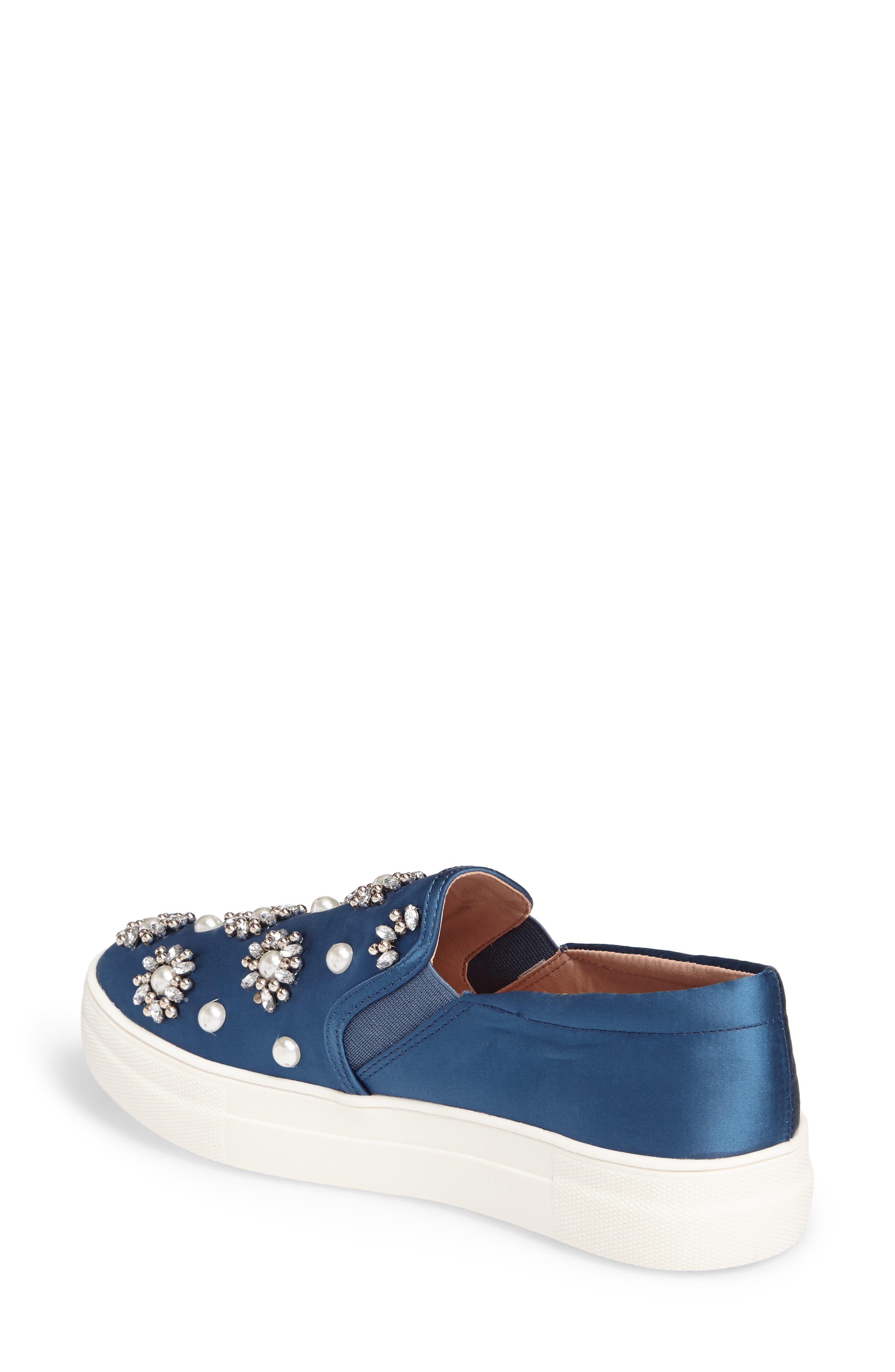 Tilt Embellished Slip-On Sneaker,                             Alternate thumbnail 2, color,                             400