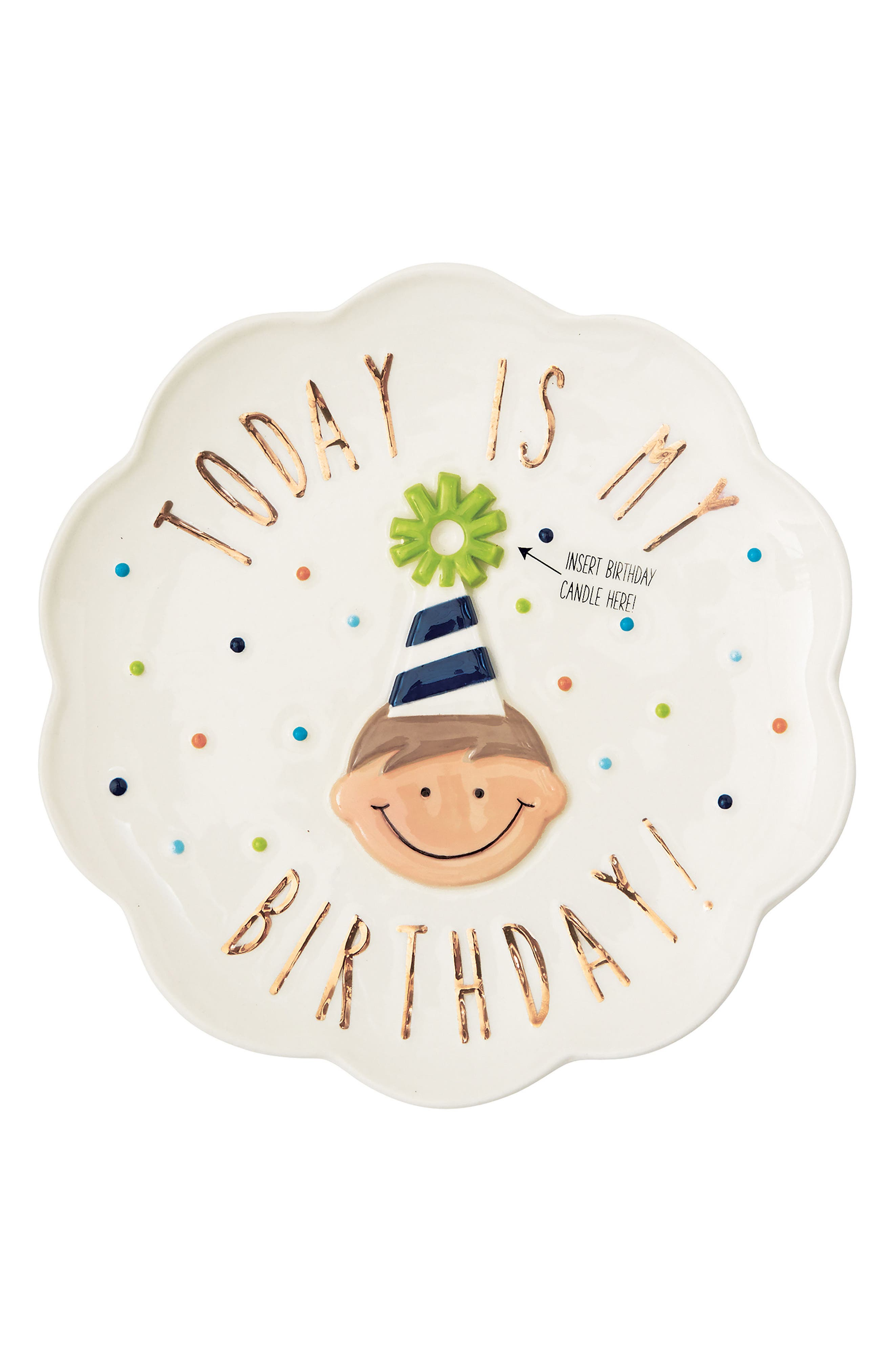 Birthday Boy Candle Plate,                             Main thumbnail 1, color,                             100