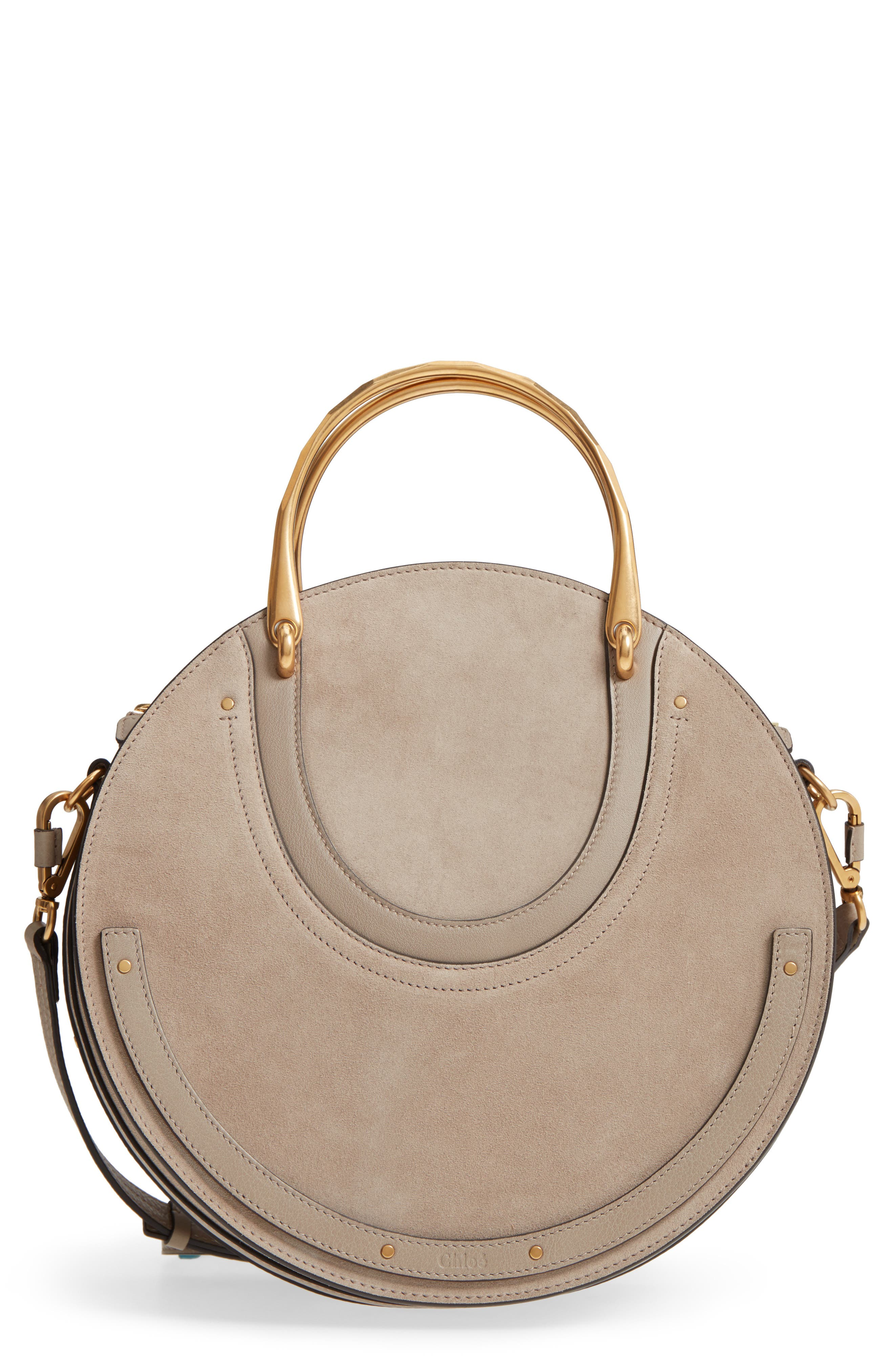 Pixie Maxi Calfskin Suede/Leather Satchel,                         Main,                         color,