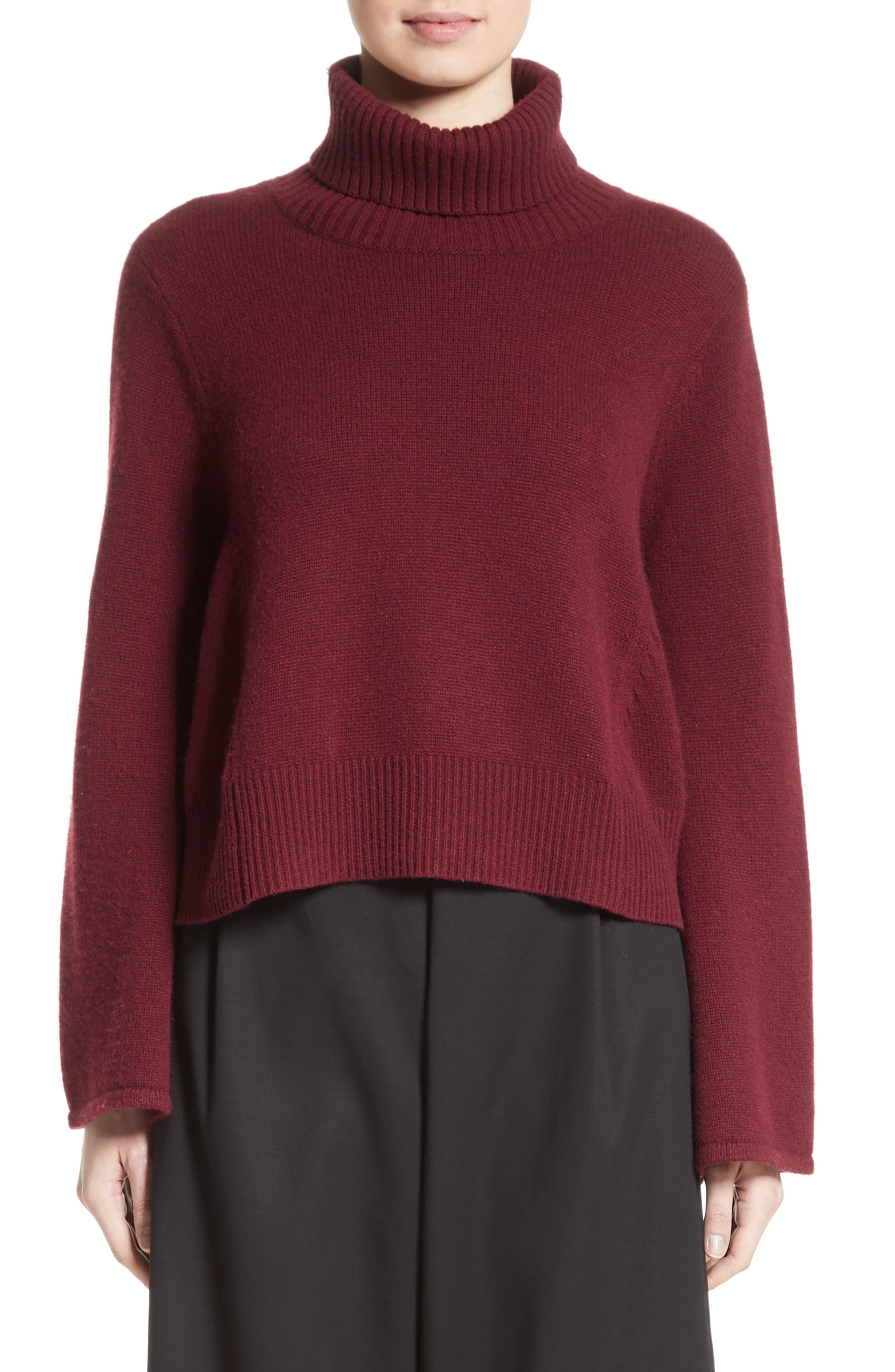 Bell Sleeve Wool & Cashmere Sweater,                             Main thumbnail 1, color,                             930
