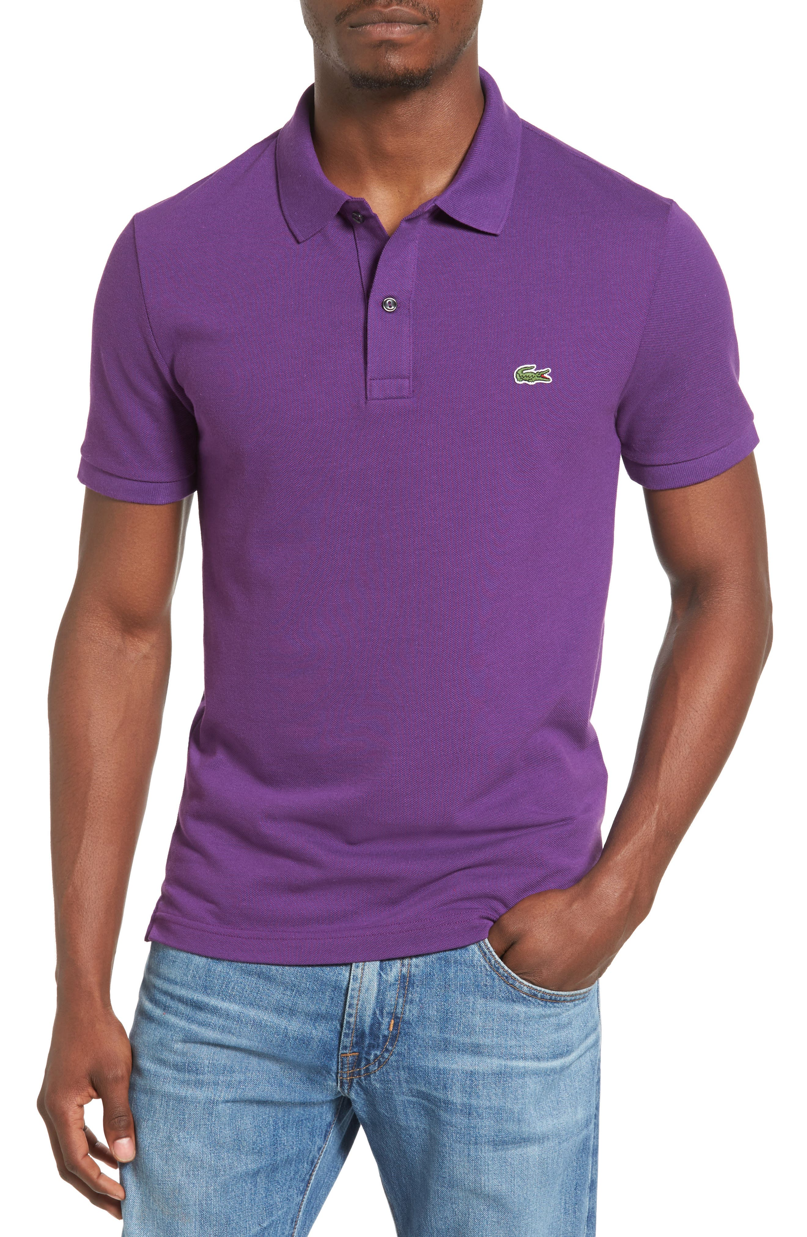 Slim Fit Piqué Polo,                             Main thumbnail 8, color,