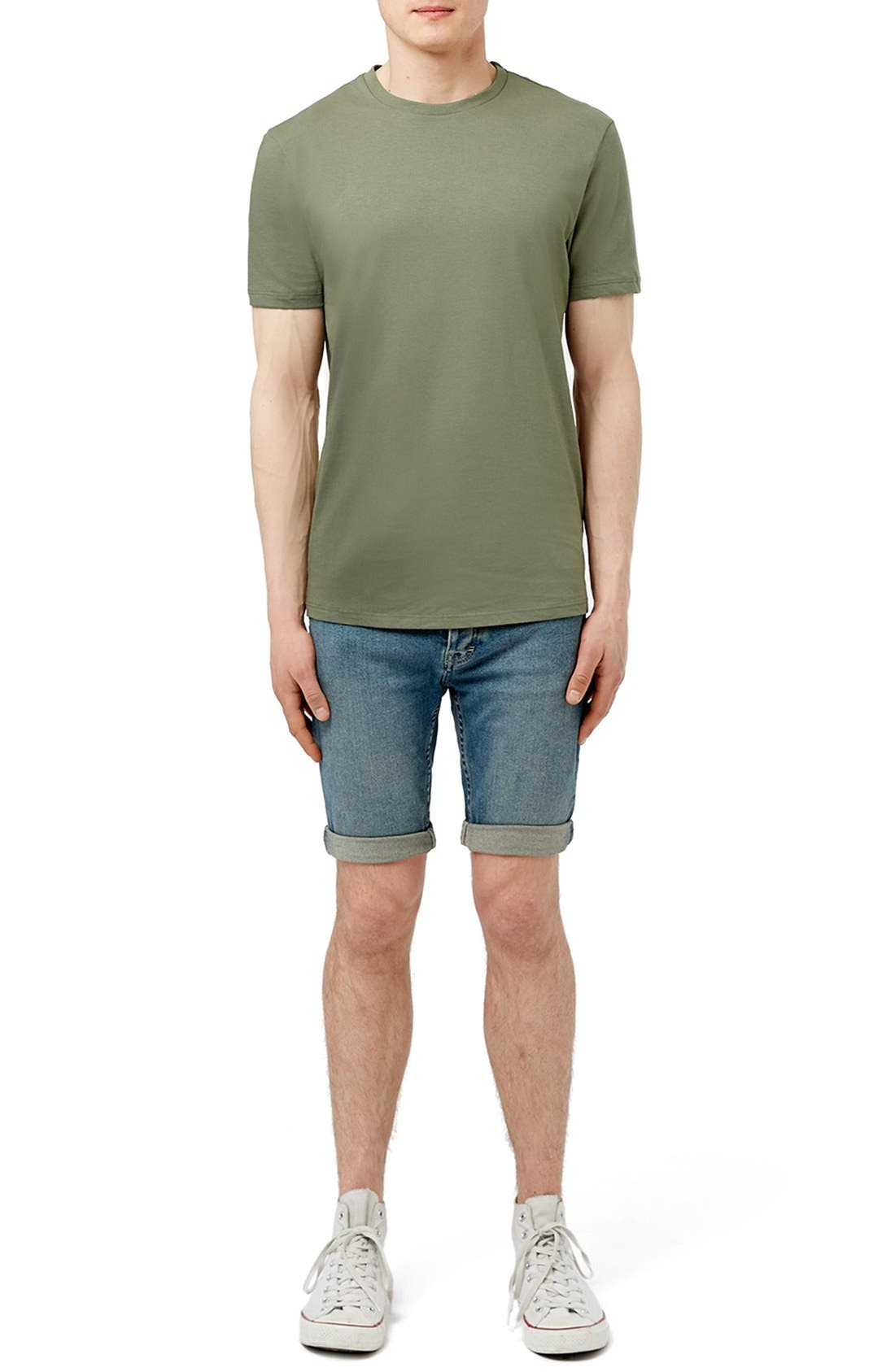 Slim Fit Crewneck T-Shirt,                             Alternate thumbnail 339, color,