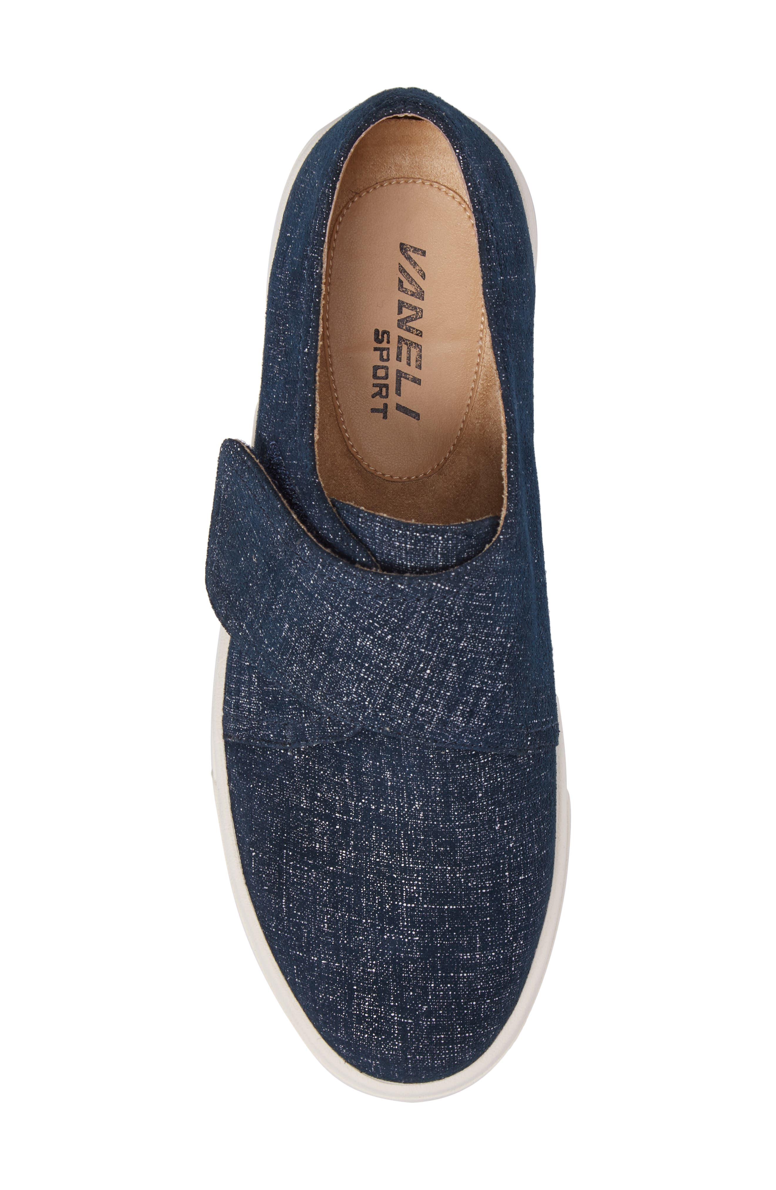 VANELI,                             Oberon Slip-On Sneaker,                             Alternate thumbnail 5, color,                             JEANS PRINTED SUEDE