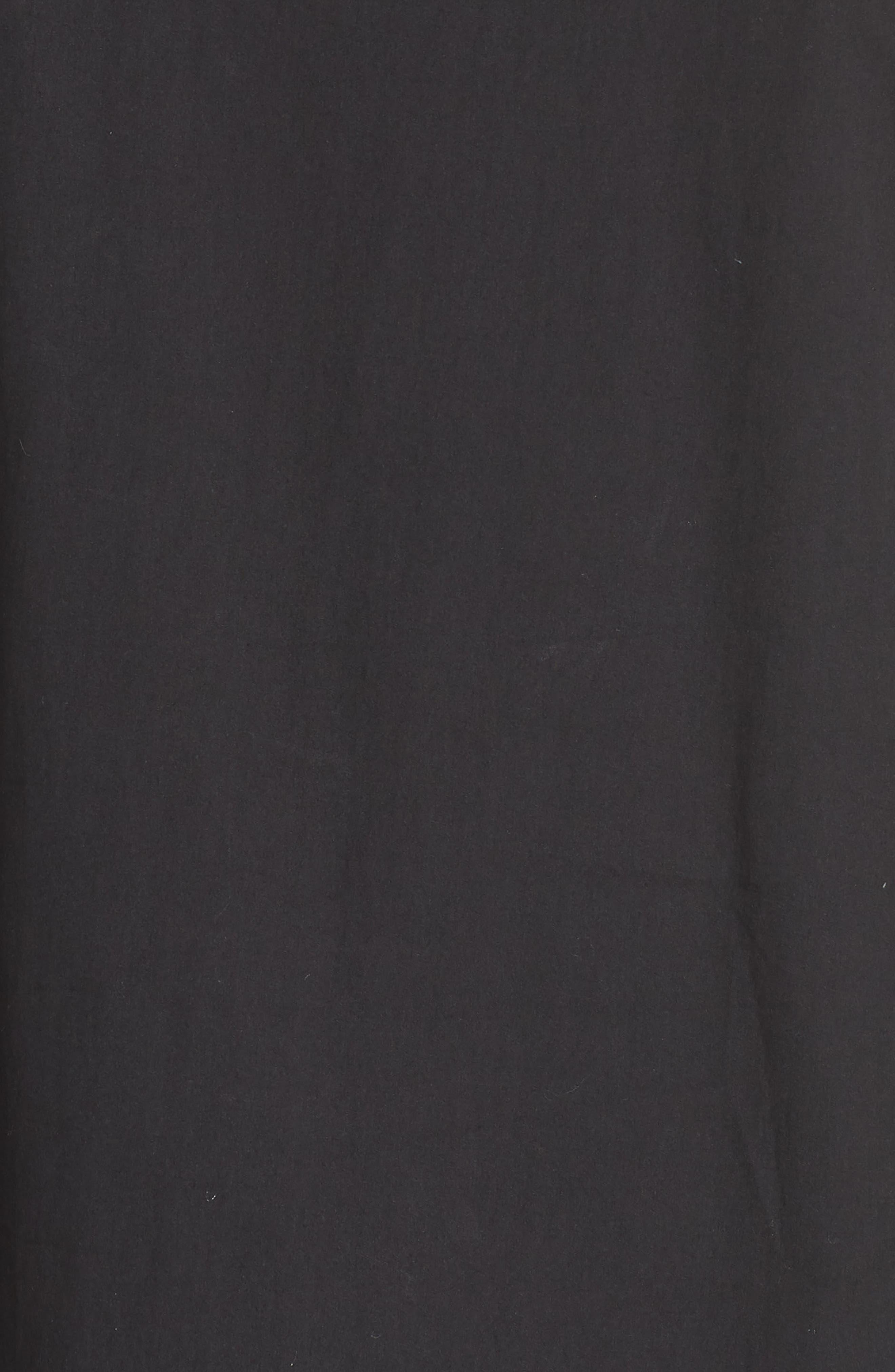 The Agata Sheer Hem Maxi Dress,                             Alternate thumbnail 7, color,                             BLACK