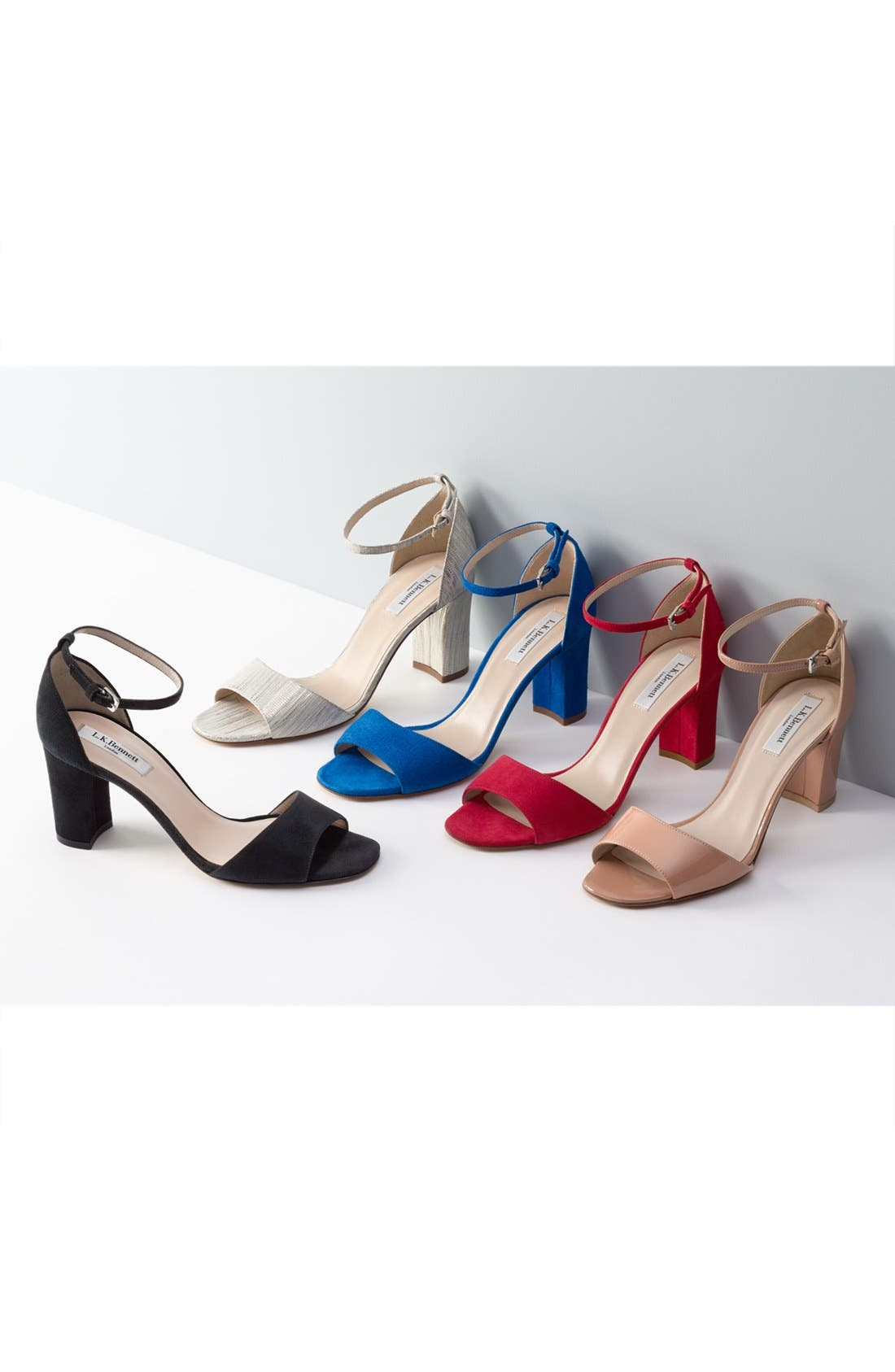 'Helena' Ankle Strap Block Heel Sandal,                             Alternate thumbnail 7, color,                             710