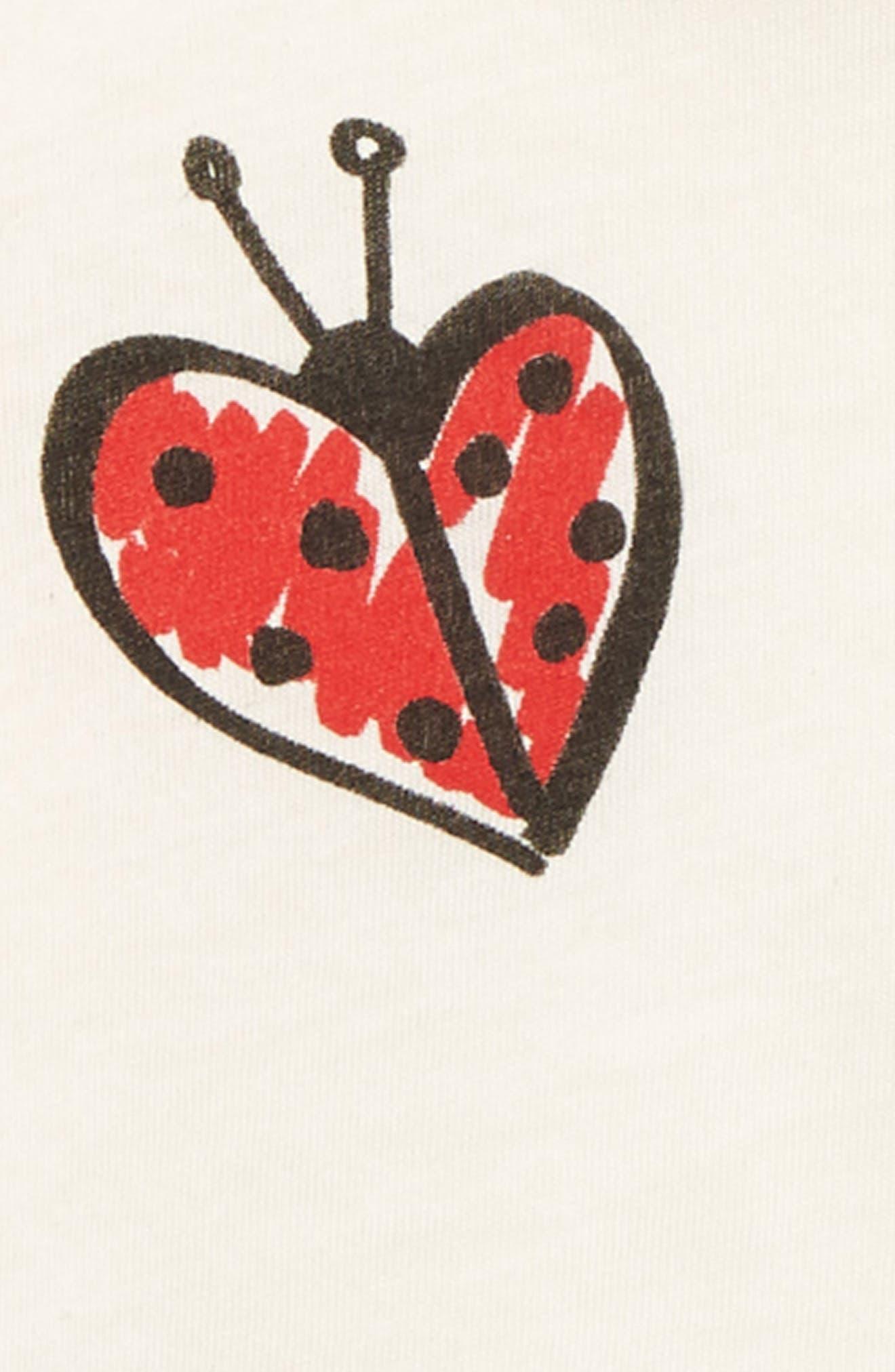 Georgie Ladybug Graphic Tee,                             Alternate thumbnail 2, color,                             100
