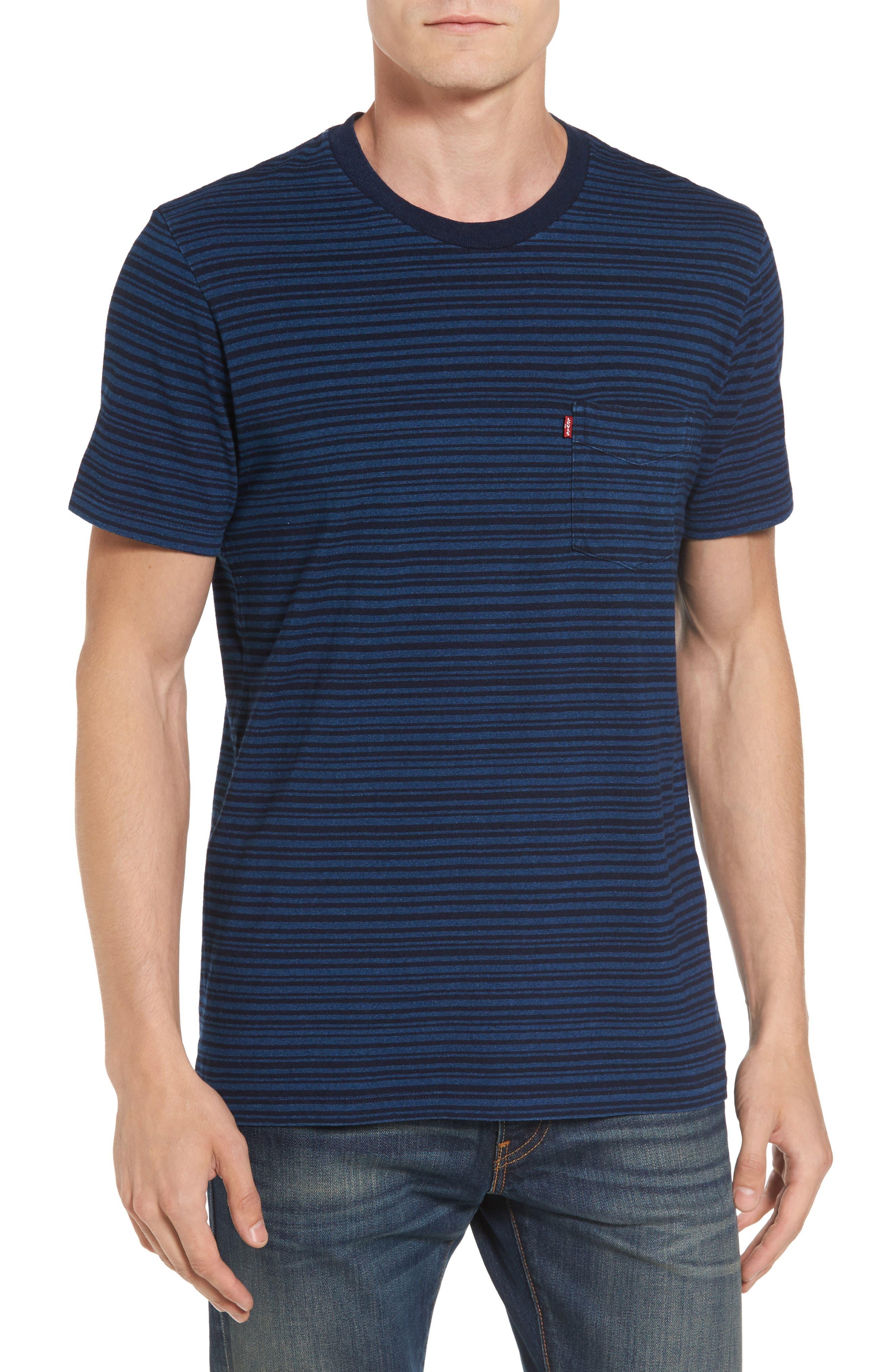 Stripe Pocket T-Shirt,                         Main,                         color, 400