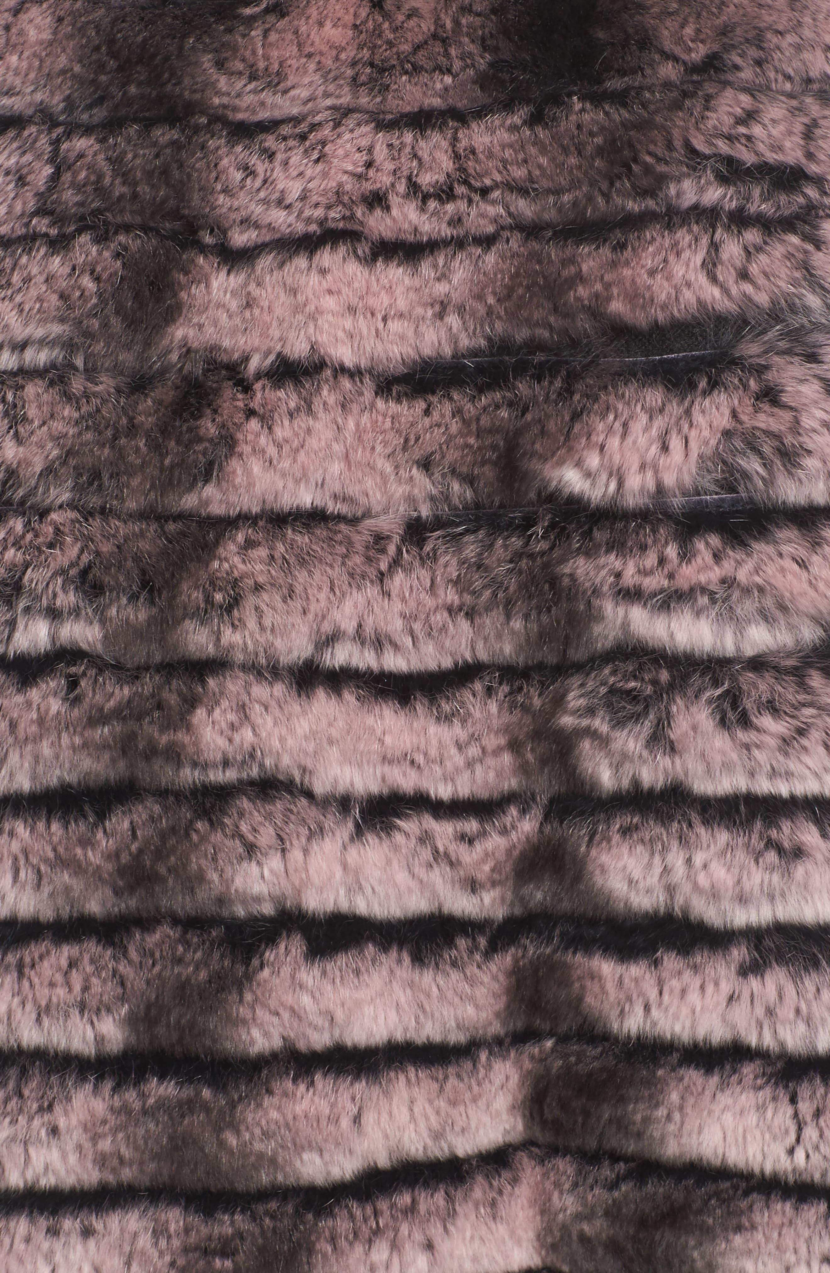 Genuine Rabbit Fur Crop Jacket,                             Alternate thumbnail 12, color,