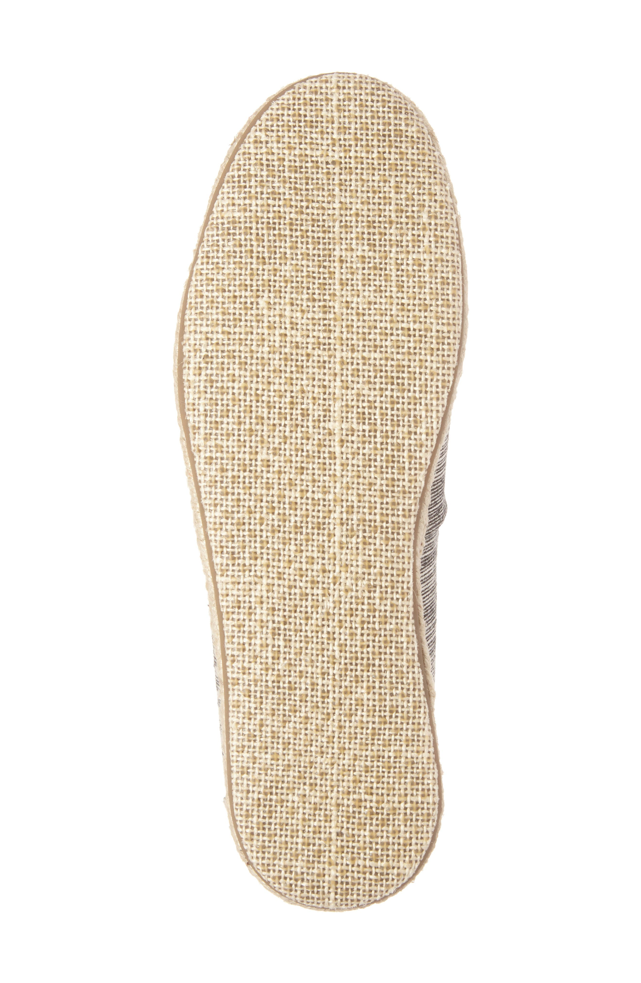 Open Toe Espadrille Slip-On,                             Alternate thumbnail 6, color,                             001