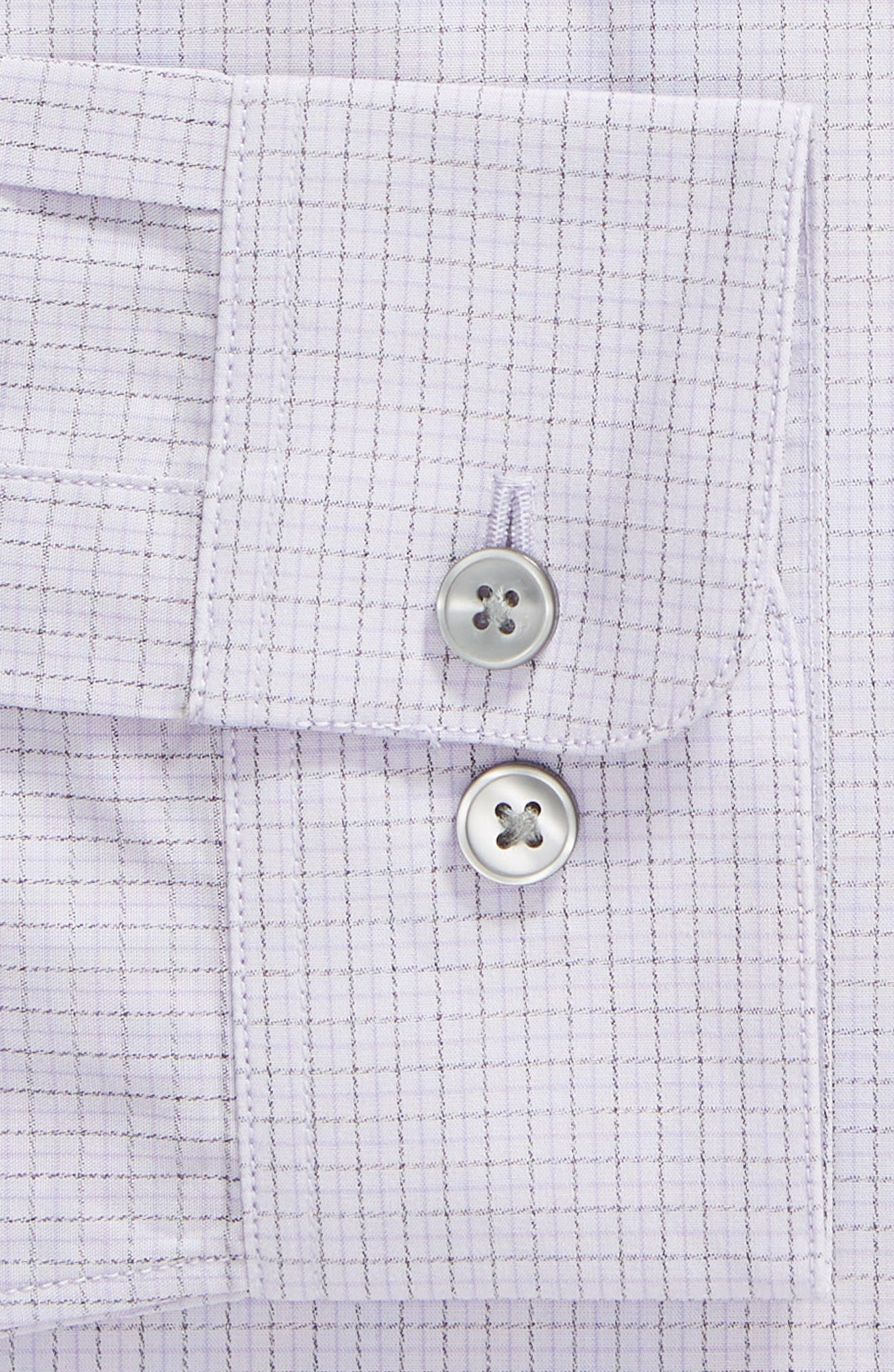 Regular Fit Stretch Check Dress Shirt,                             Alternate thumbnail 6, color,                             AMETHYST