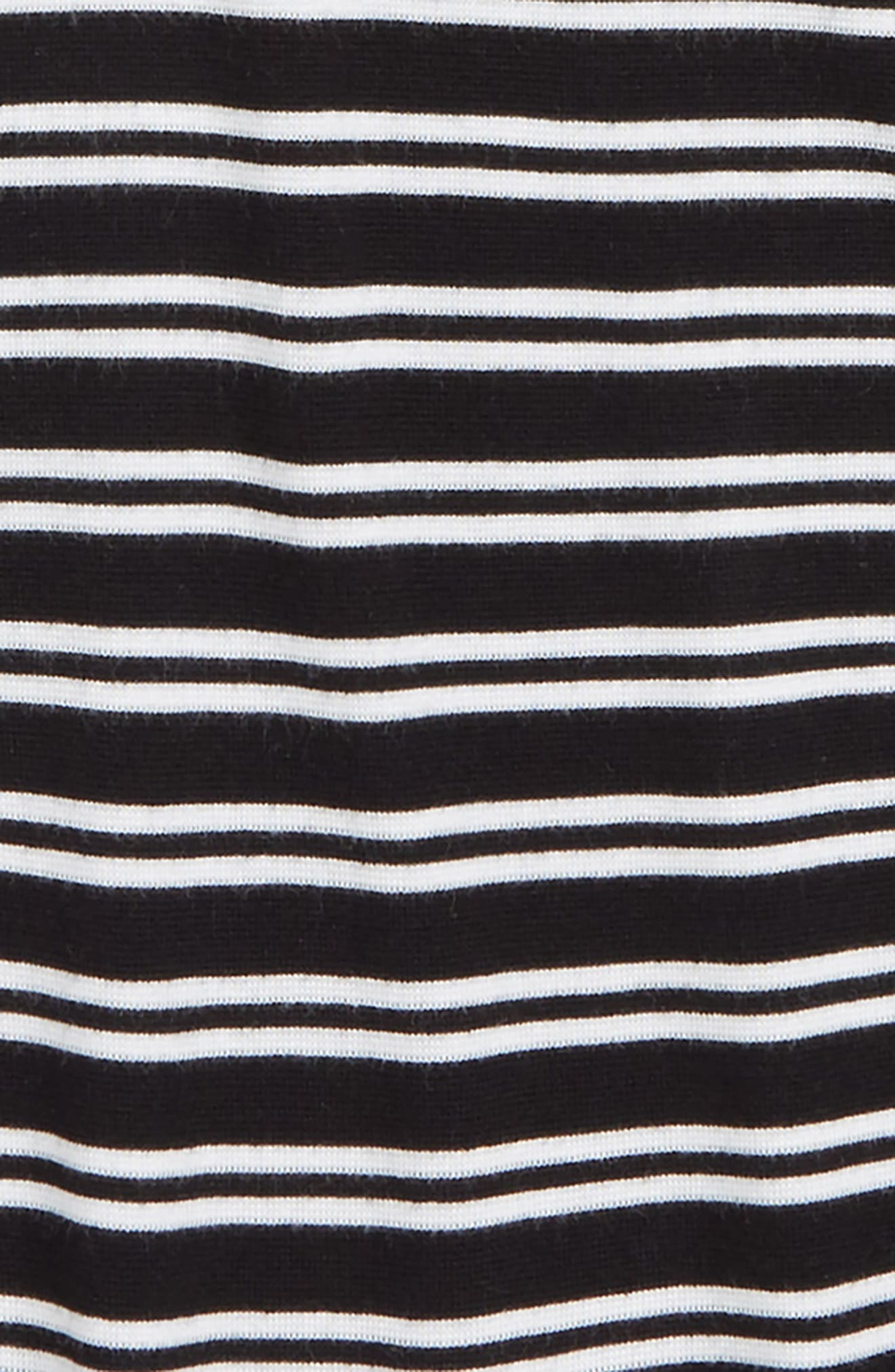 Stripe Puff Sleeve Tee,                             Alternate thumbnail 2, color,                             001