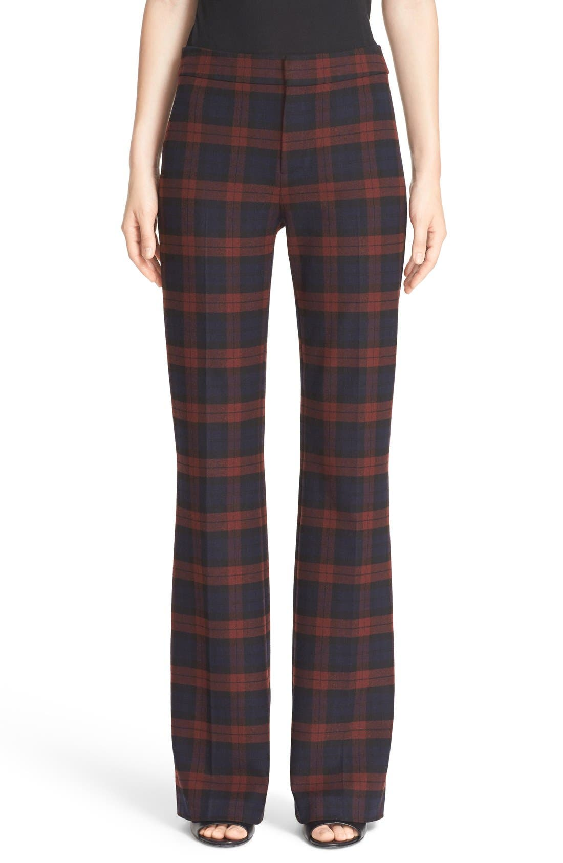 Plaid Flannel Pants, Main, color, 400