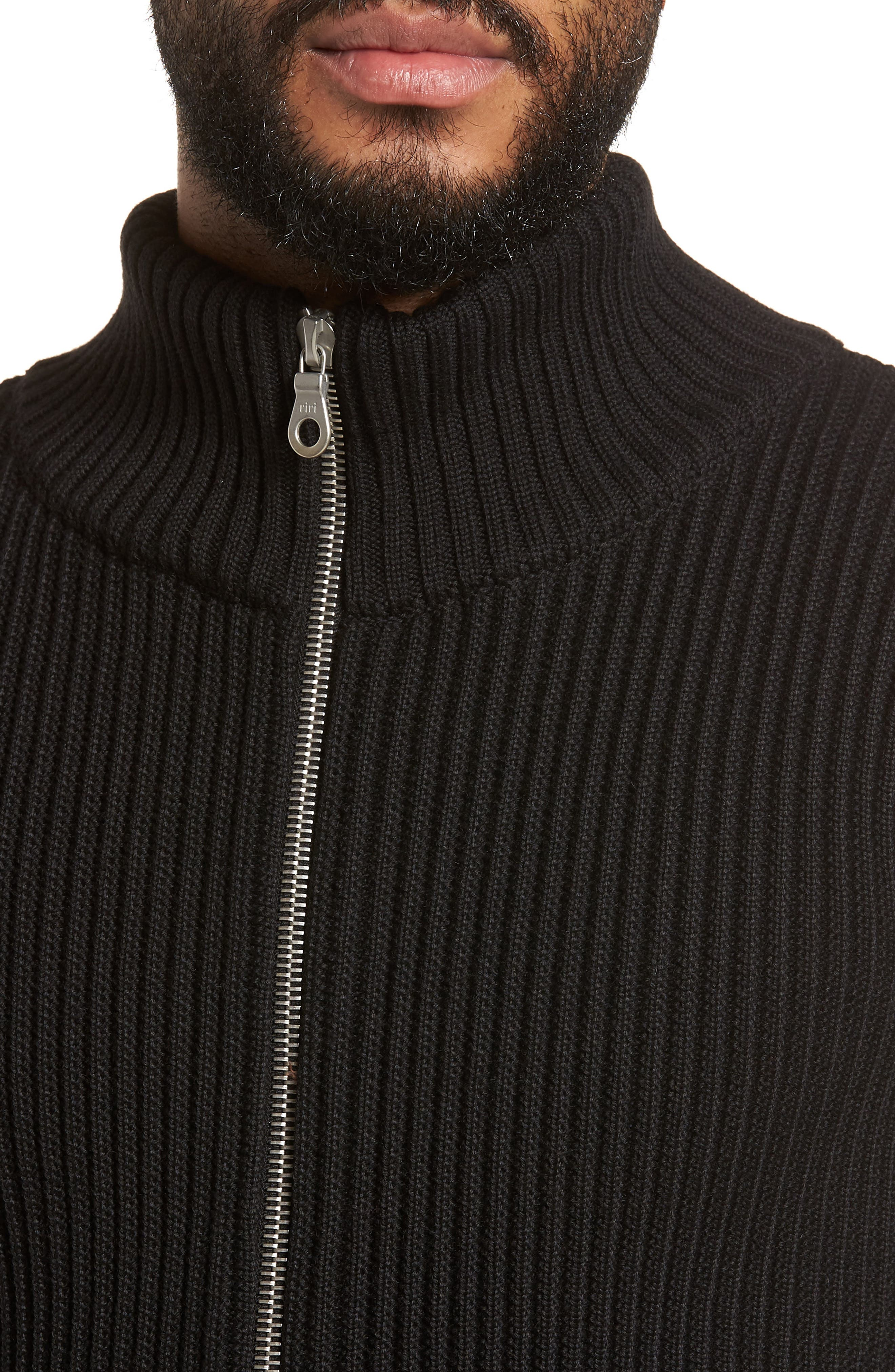 S.N.S. HERNING,                             Fang Wool Sweater Jacket,                             Alternate thumbnail 4, color,                             001