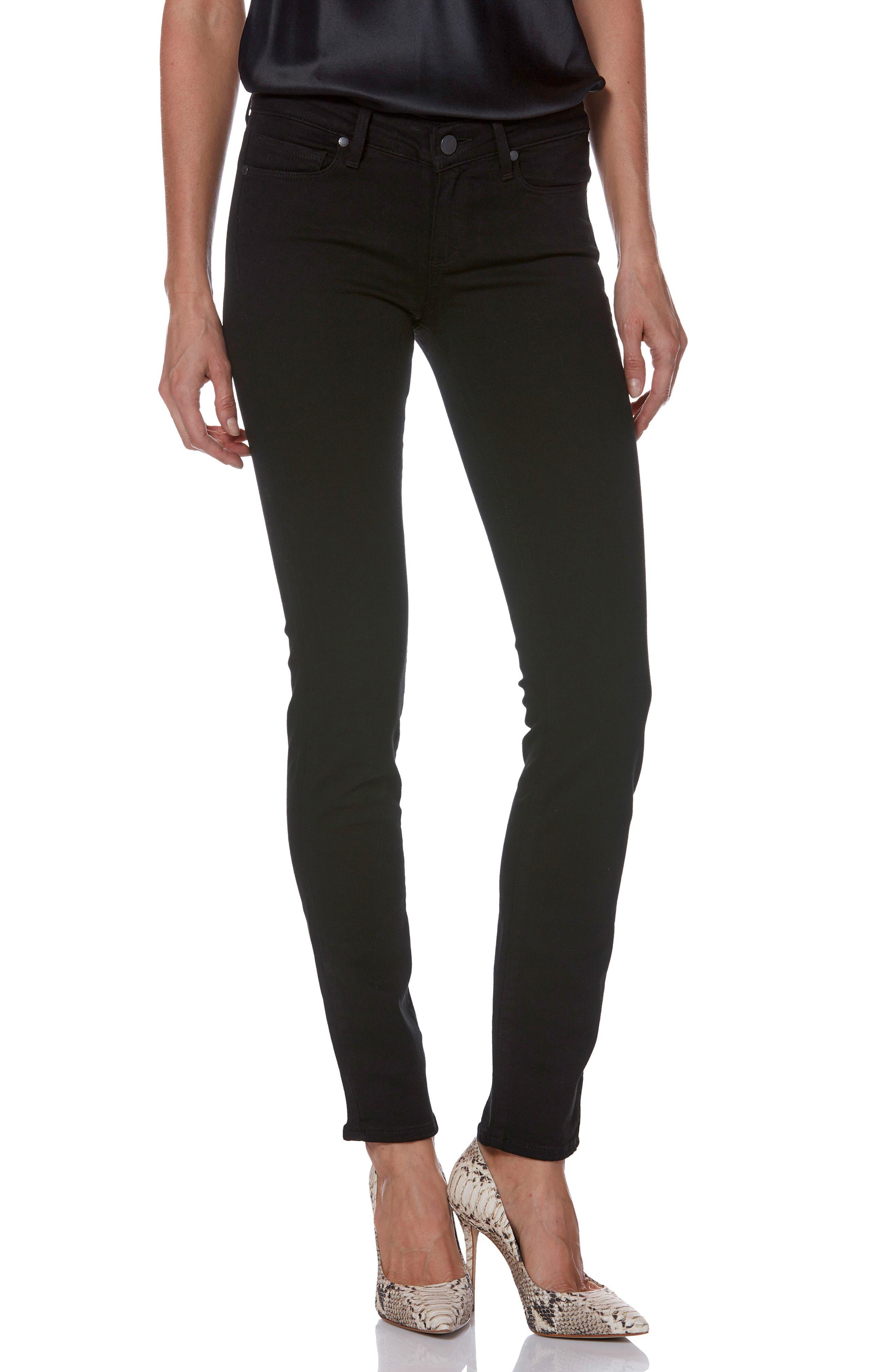 Transcend - Skyline Skinny Jeans,                             Alternate thumbnail 2, color,                             BLACK SHADOW
