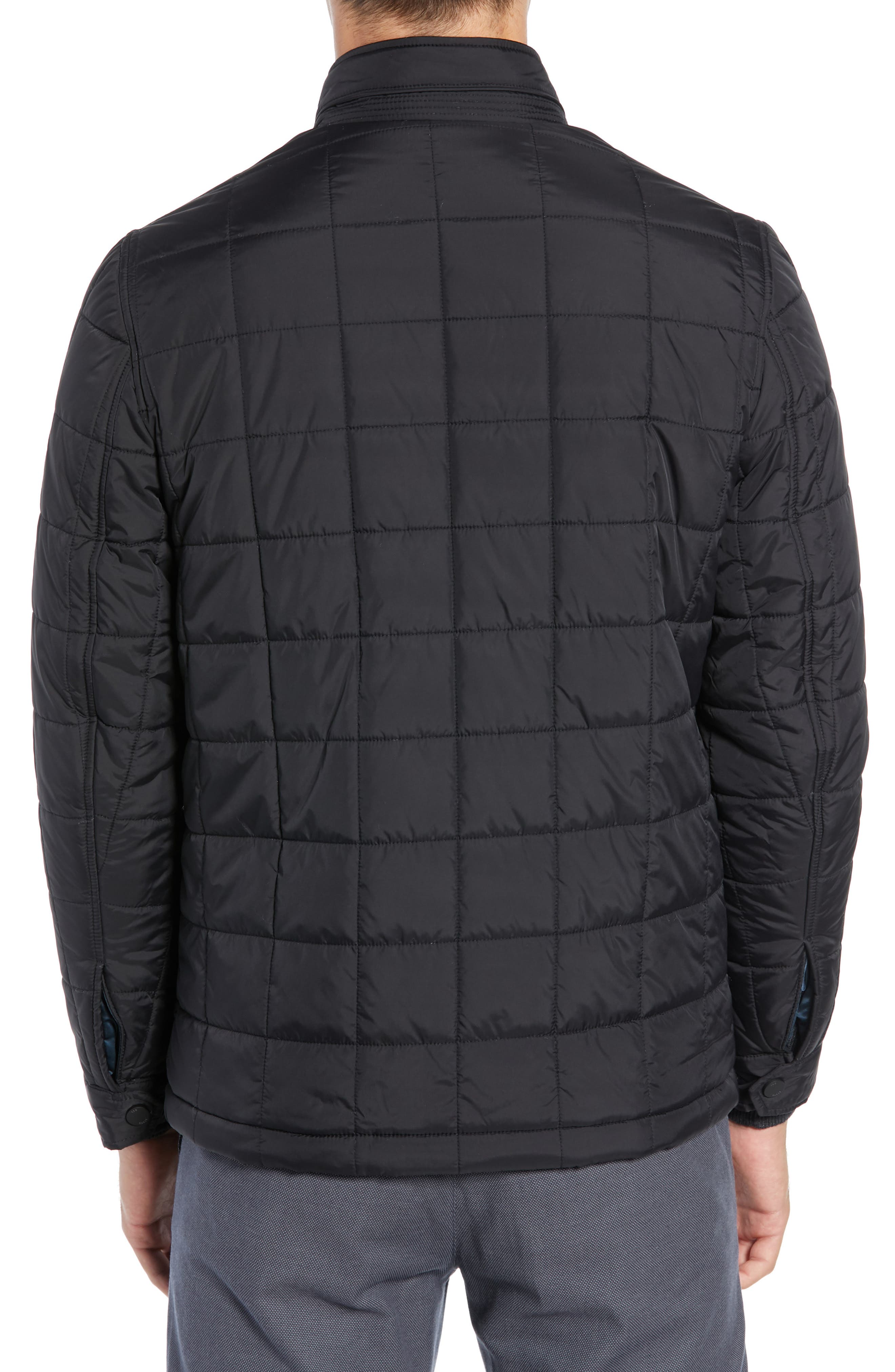 Lesta Quilted Slim Fit Jacket,                             Alternate thumbnail 2, color,                             BLACK